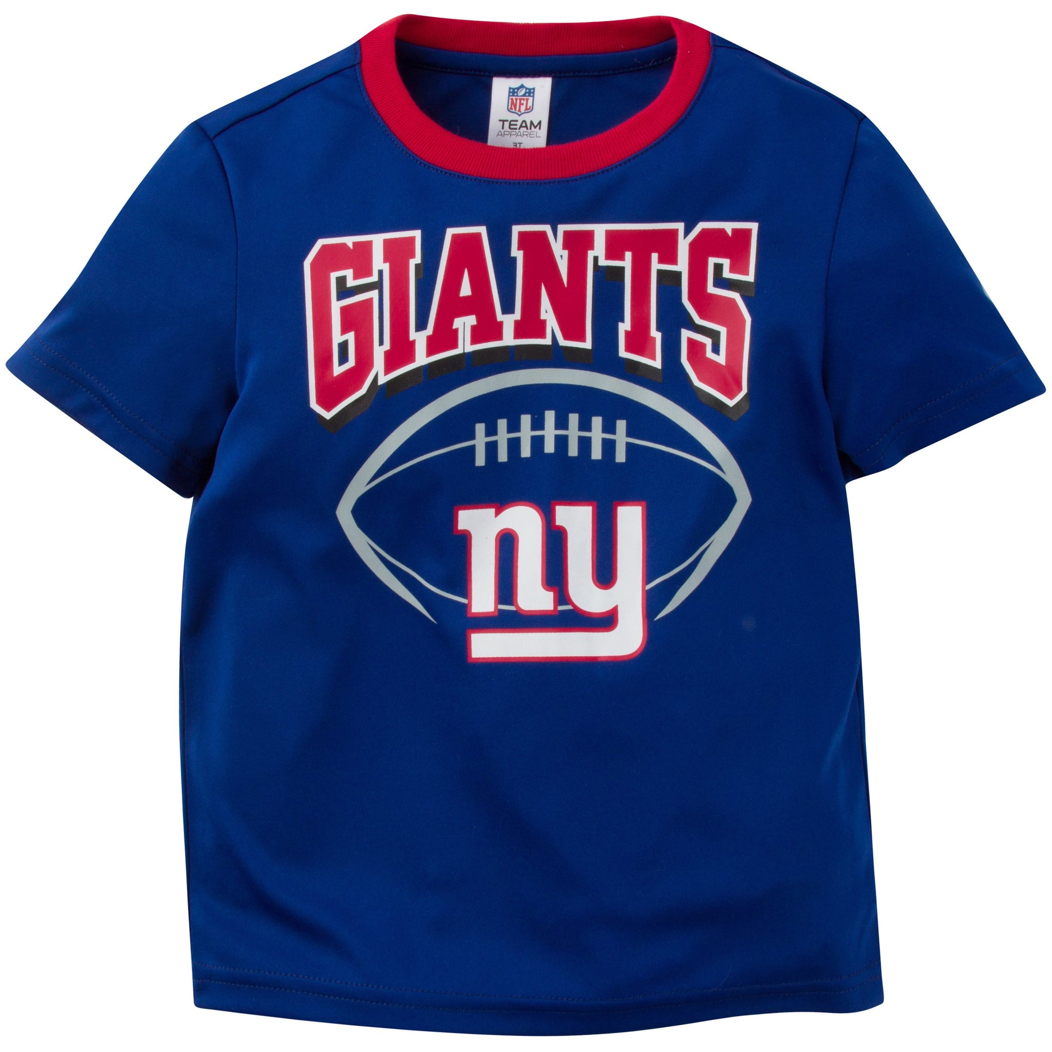 NFL New York Giants Toddler Boys Short Sleeve Performance Tee Shirt-Gerber Childrenswear