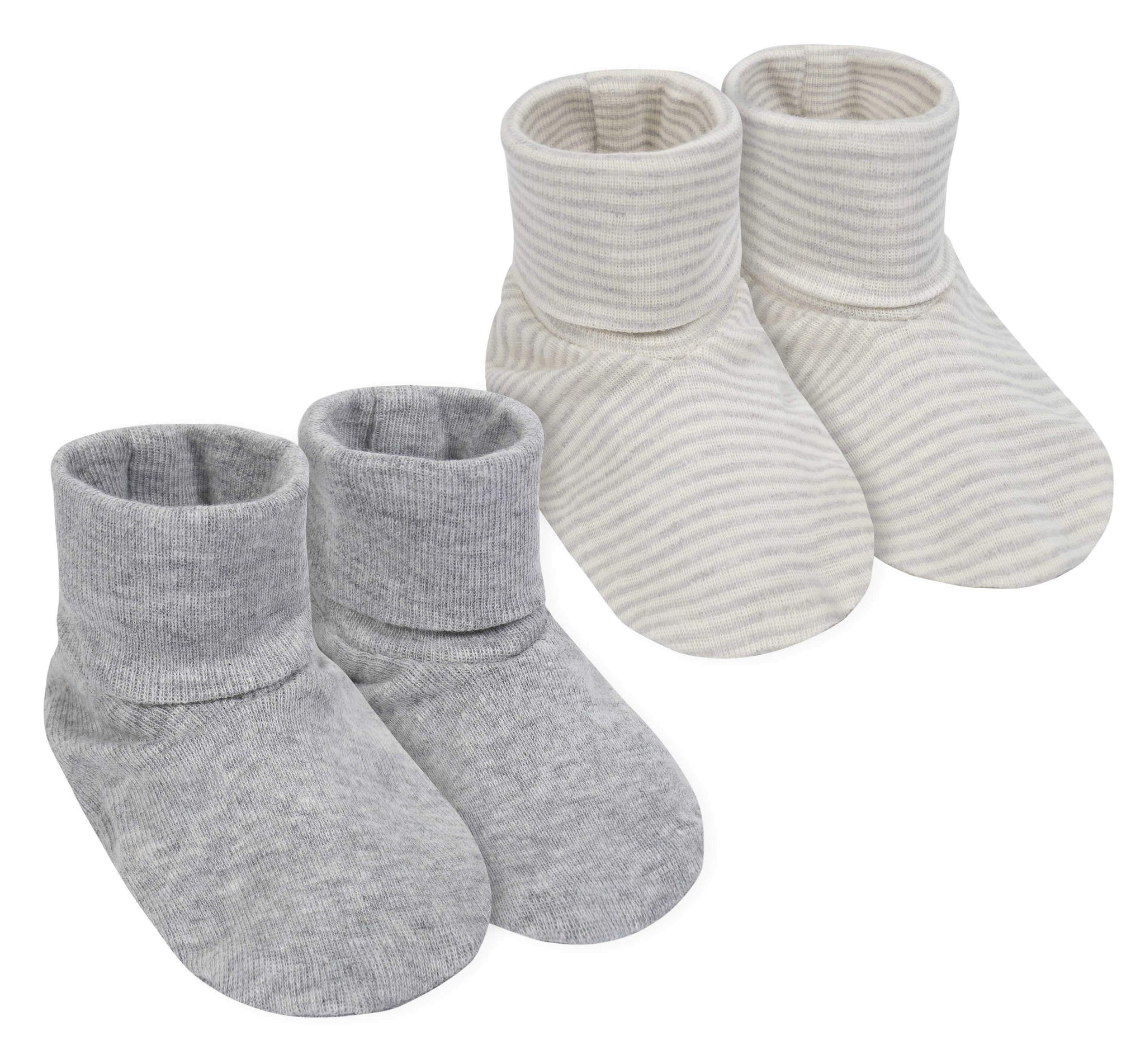2-Pack Neutral Organic Cotton Booties