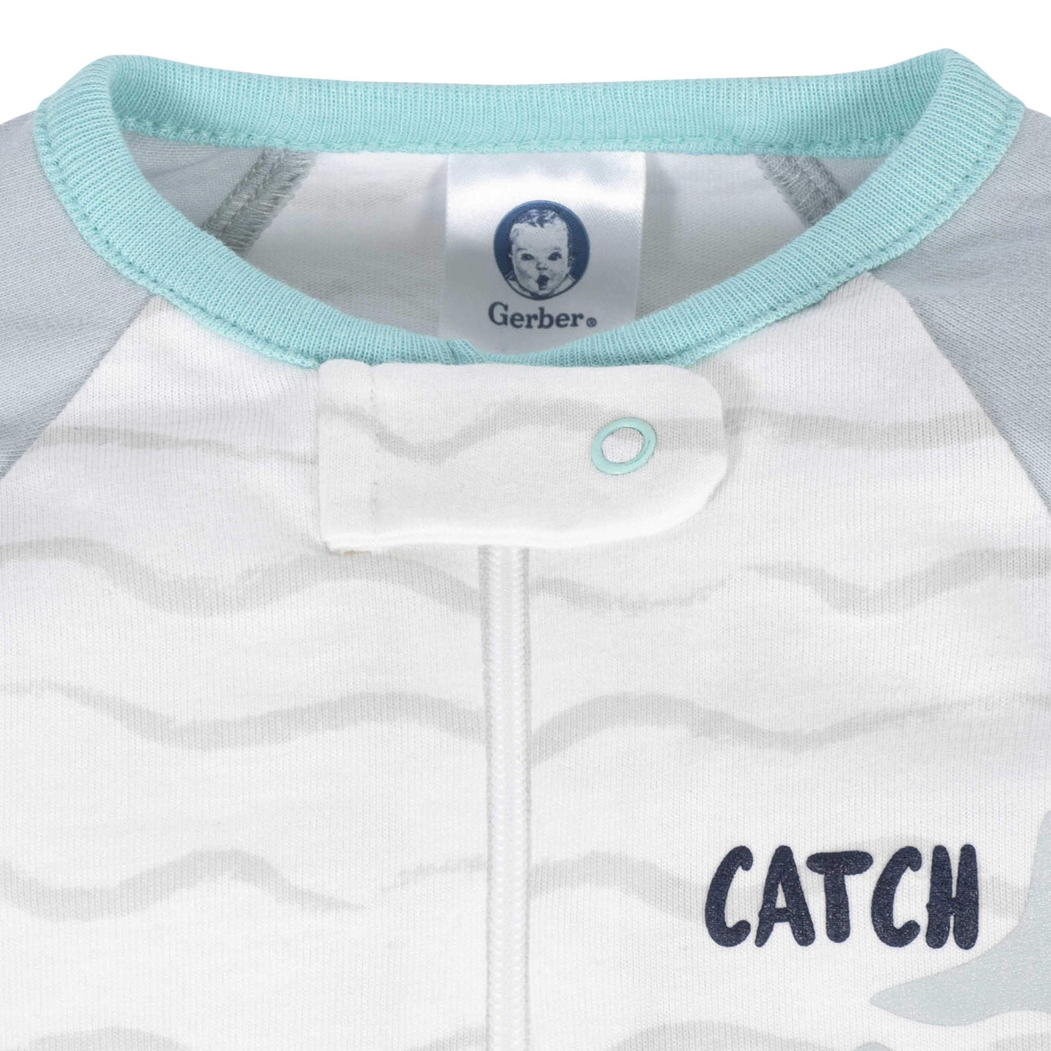 Gerber® Baby Boys Shark Sleep 'N Play-Gerber Childrenswear