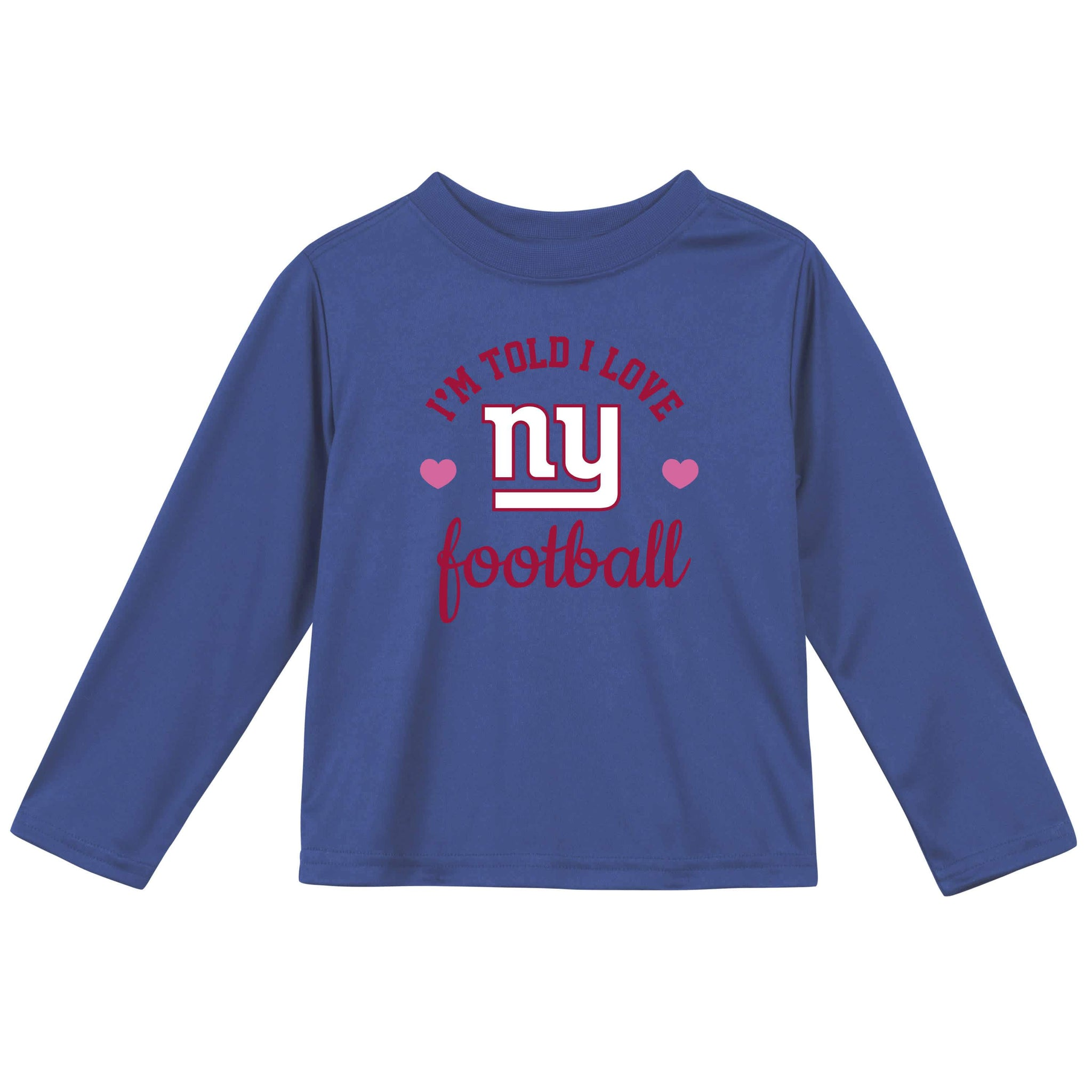New York Giants Baby Girls Long Sleeve Tee Shirt