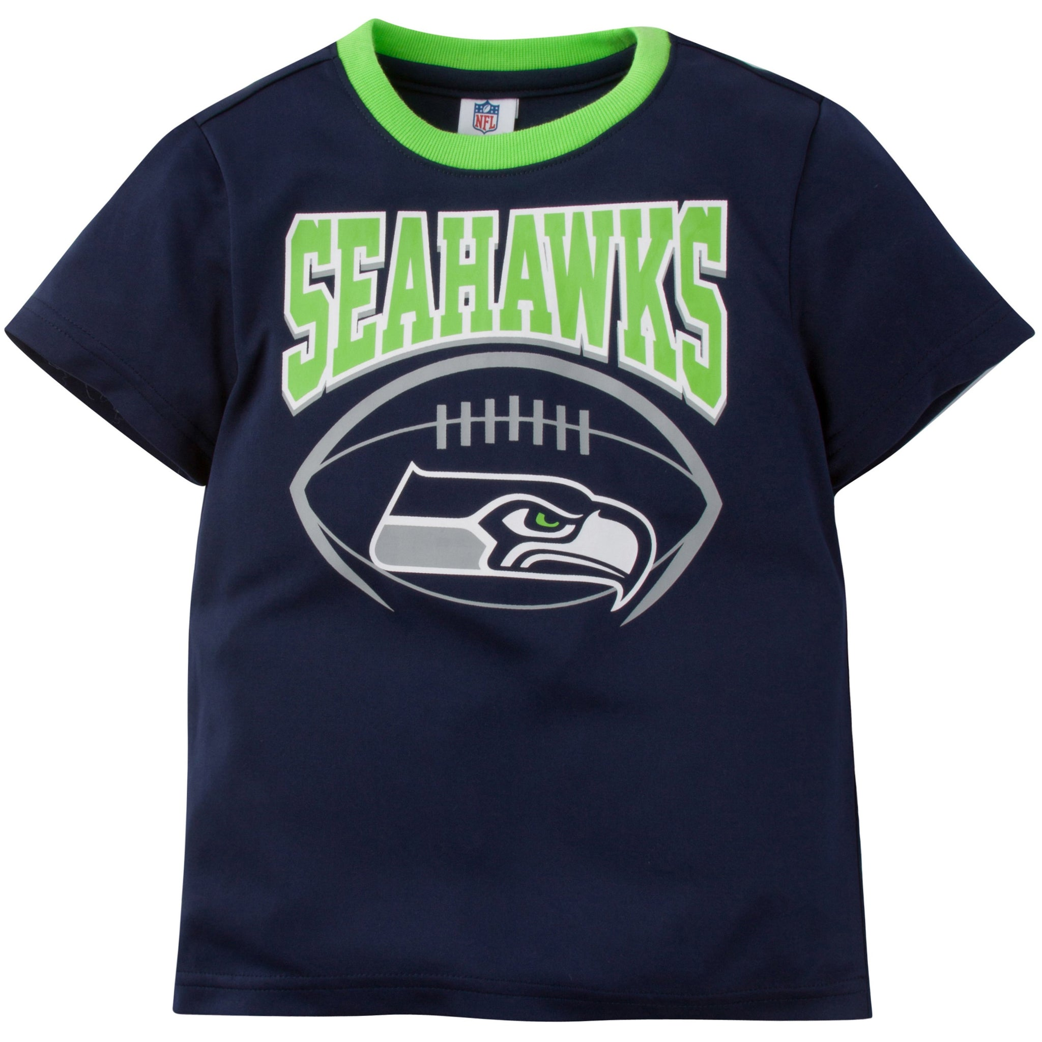 NFL Seattle Seahawks Toddler Boys Short Sleeve Performance Tee Shirt-Gerber Childrenswear