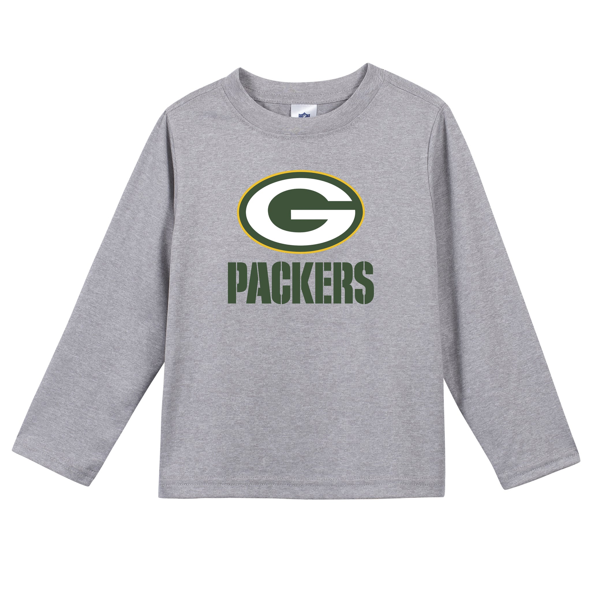Green Bay Packers Toddler Boys Long Sleeve Tee Shirt-Gerber Childrenswear