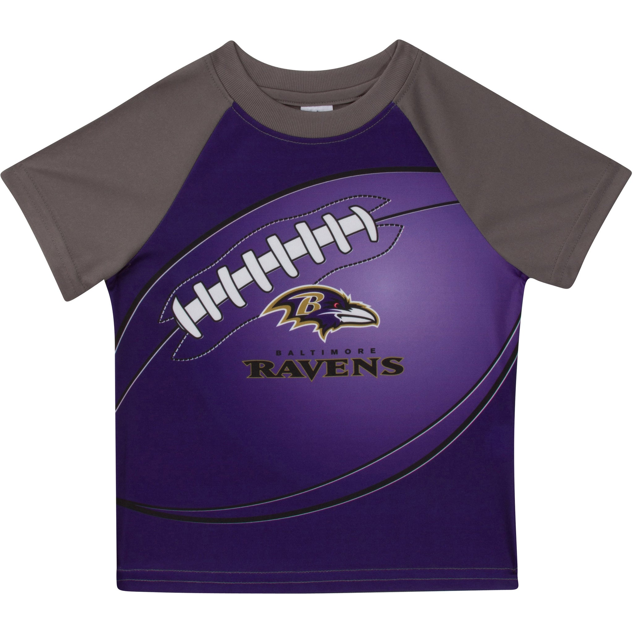 Baltimore Ravens Boys Short Sleeve Tee Shirt-Gerber Childrenswear