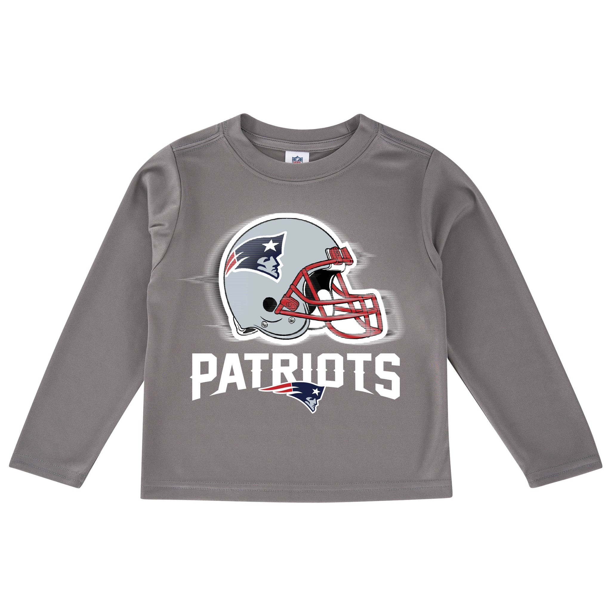 New England Patriots Toddler Boys' Long Sleeve Logo Tee-Gerber Childrenswear