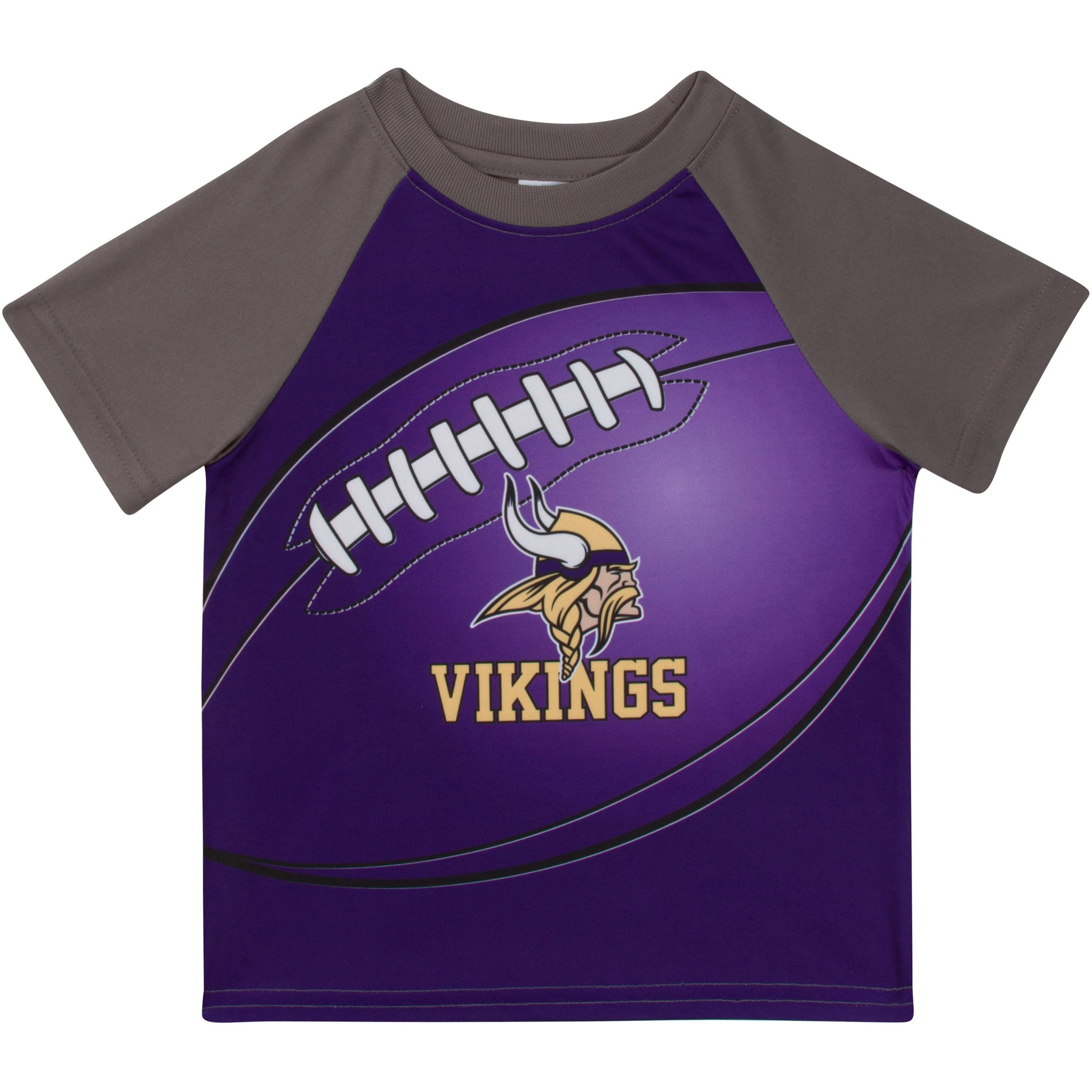 Minnesota Vikings Boys Short Sleeve Tee Shirt-Gerber Childrenswear