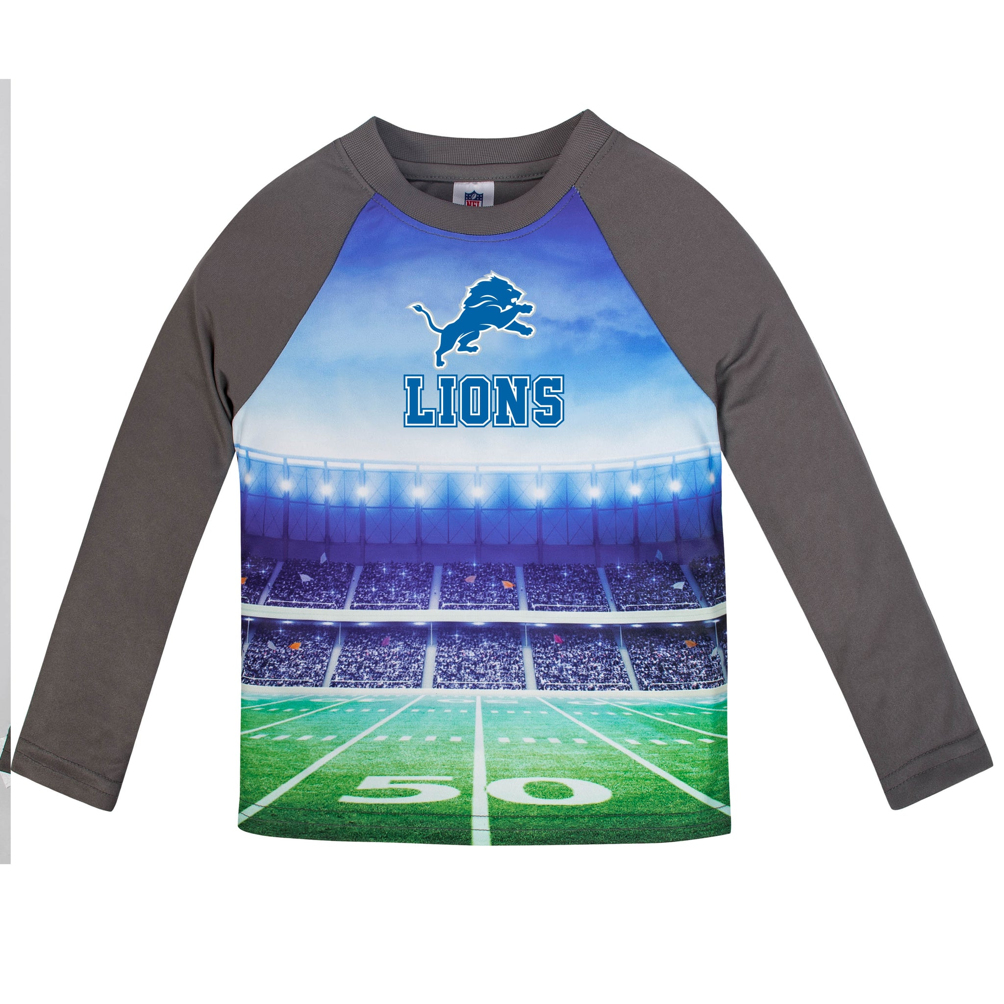 Detroit Lions Boys Long Sleeve Tee Shirt-Gerber Childrenswear