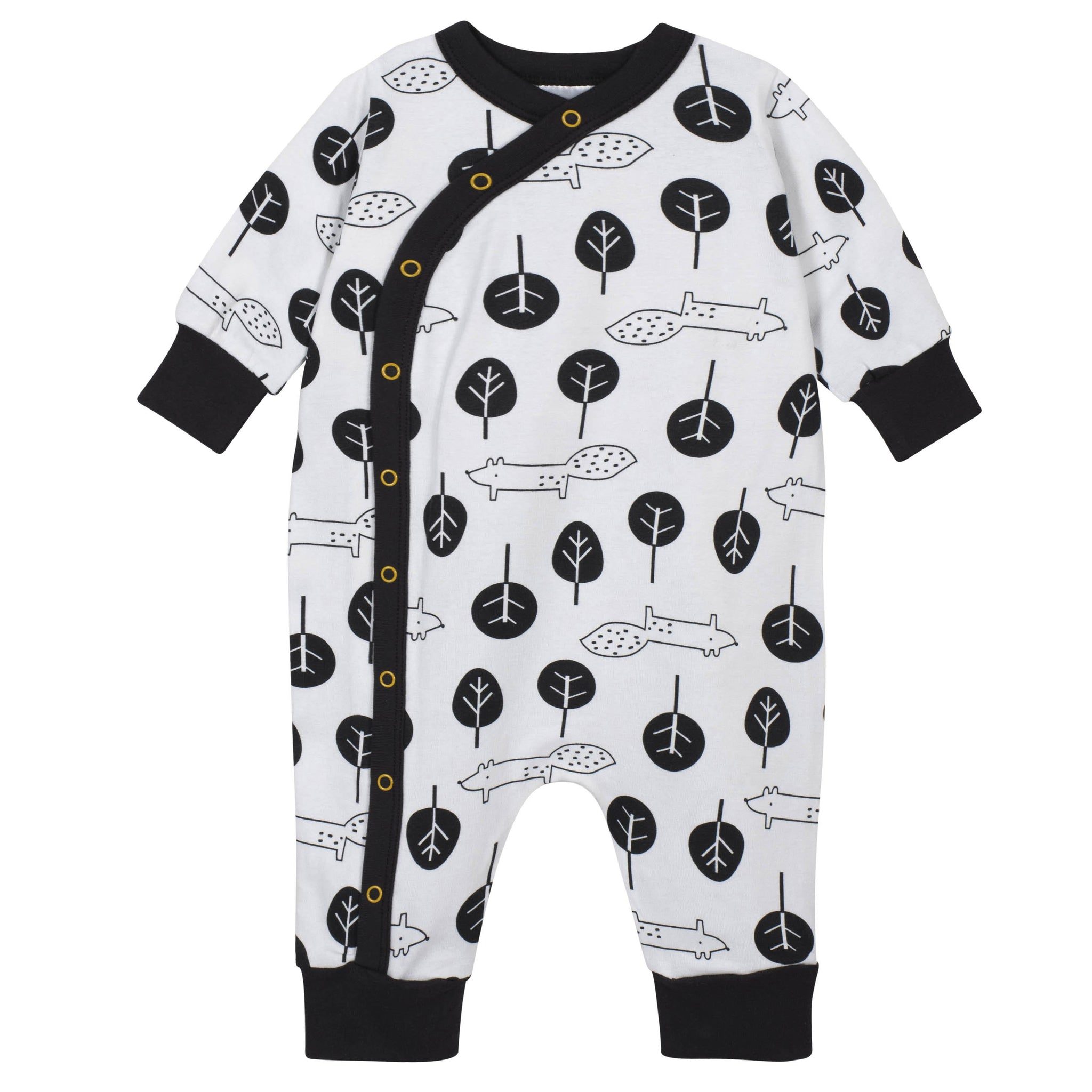 4-Piece Coverall and Cap Set - B&W Nature