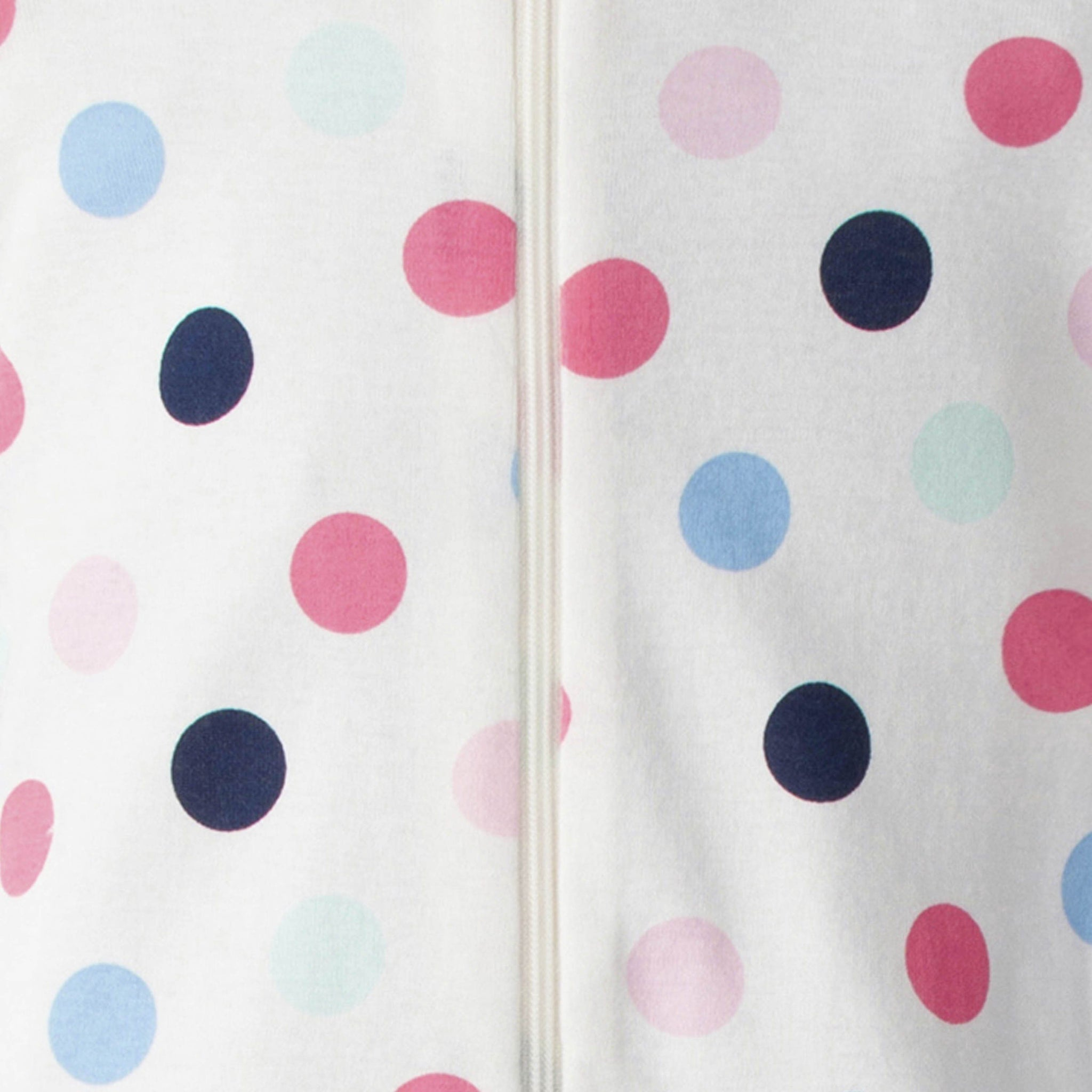 2-Pack Baby Girls Footed Union Suits - Happy Dots