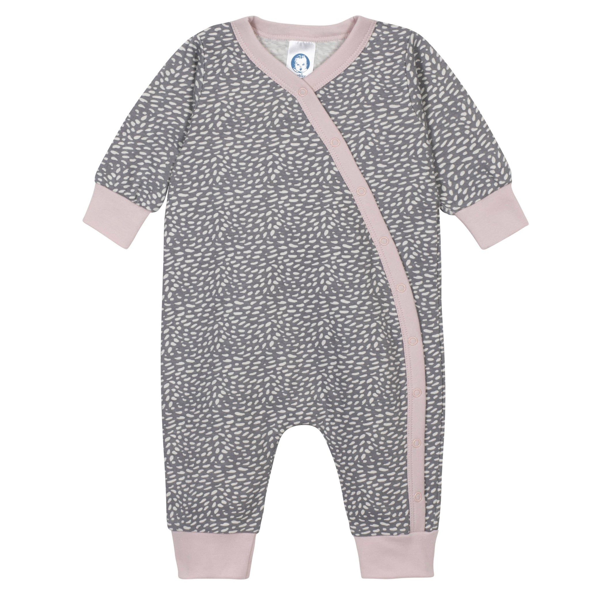 Gerber® 2-Piece Baby Girls Coverall and Cap Set