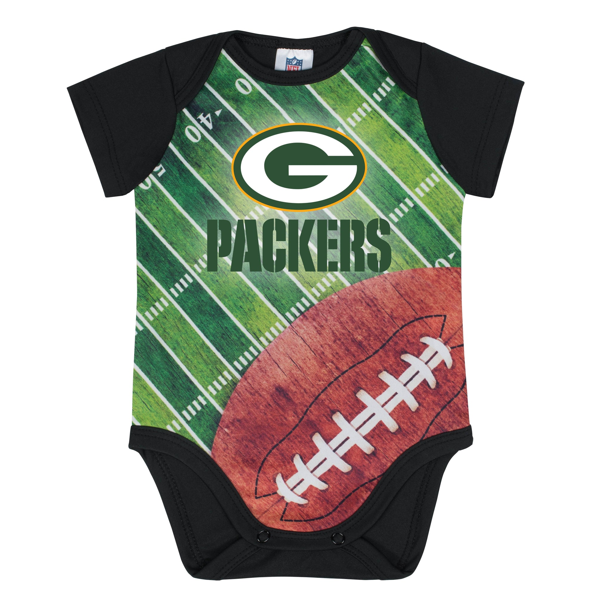 Green Bay Packers Baby Boy Short Sleeve Bodysuit-Gerber Childrenswear