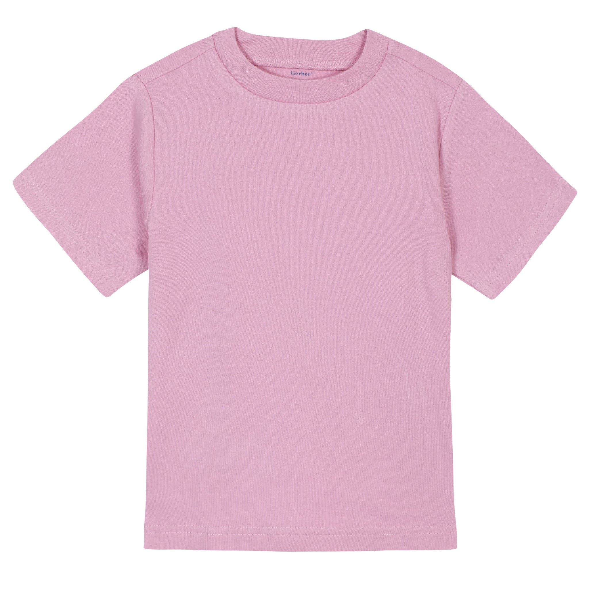 Gerber® Premium Light Pink Short Sleeve Tee Shirt - 10 Colors Available