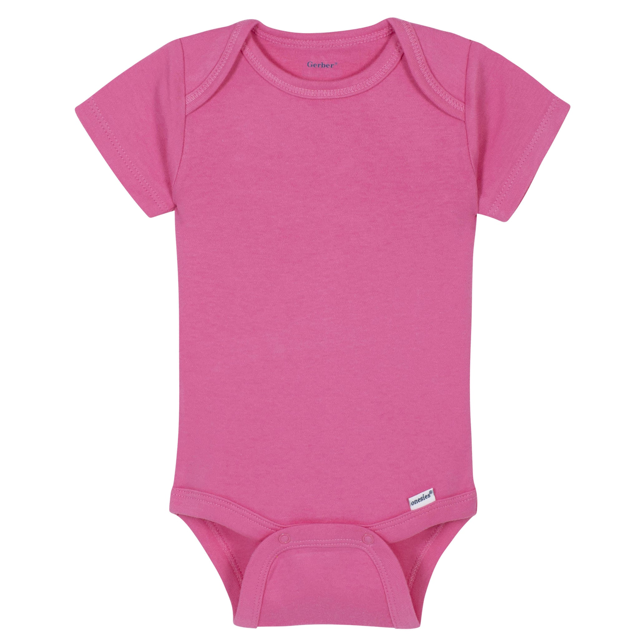 Gerber® Premium Hot Pink Short Sleeve Onesies® Brand Bodysuit - 10 Colors Available