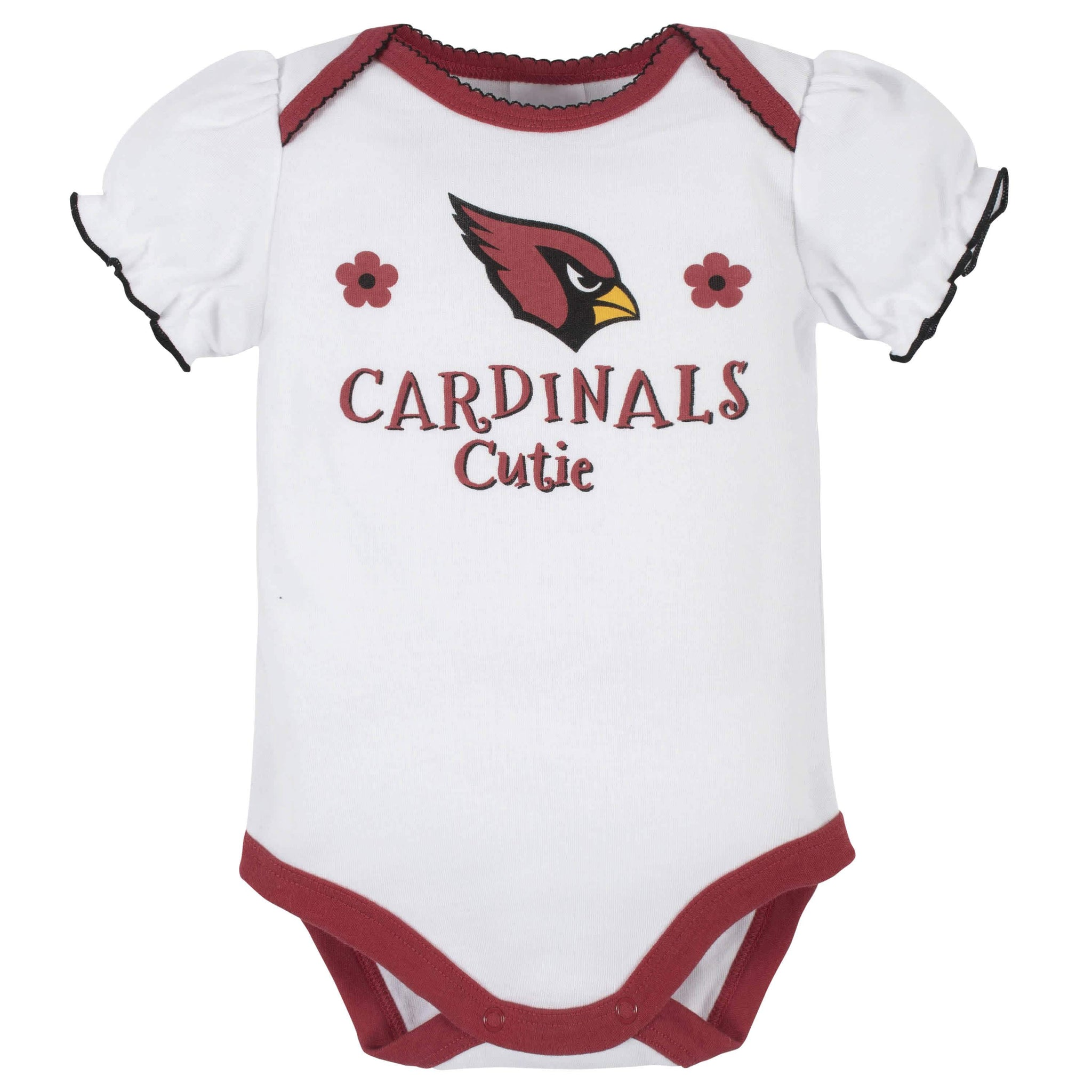 Arizona Cardinals Baby Girls Short Sleeve Bodysuits-Gerber Childrenswear