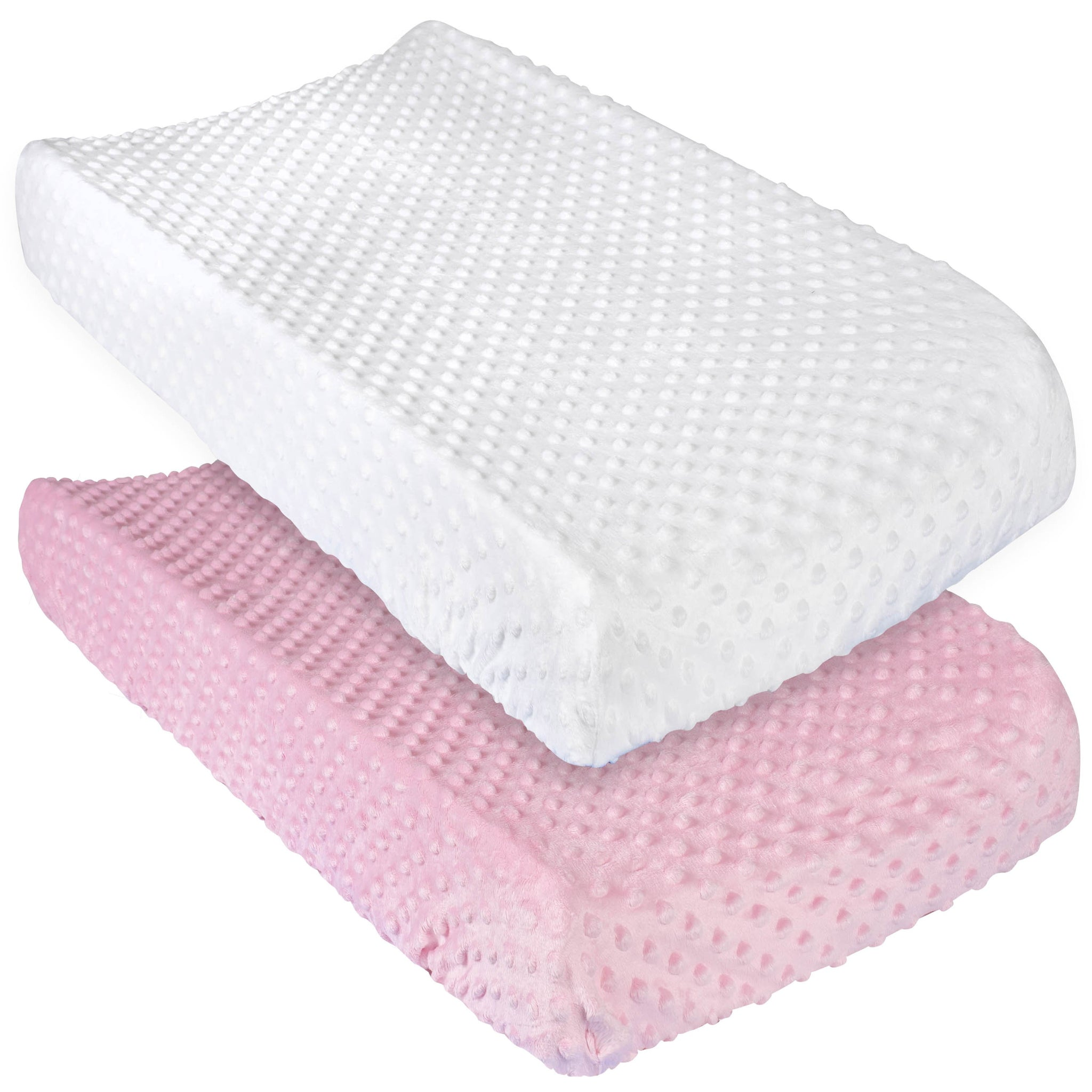 Gerber 2-Pack Baby Girls Pink/White Changing Pad Covers