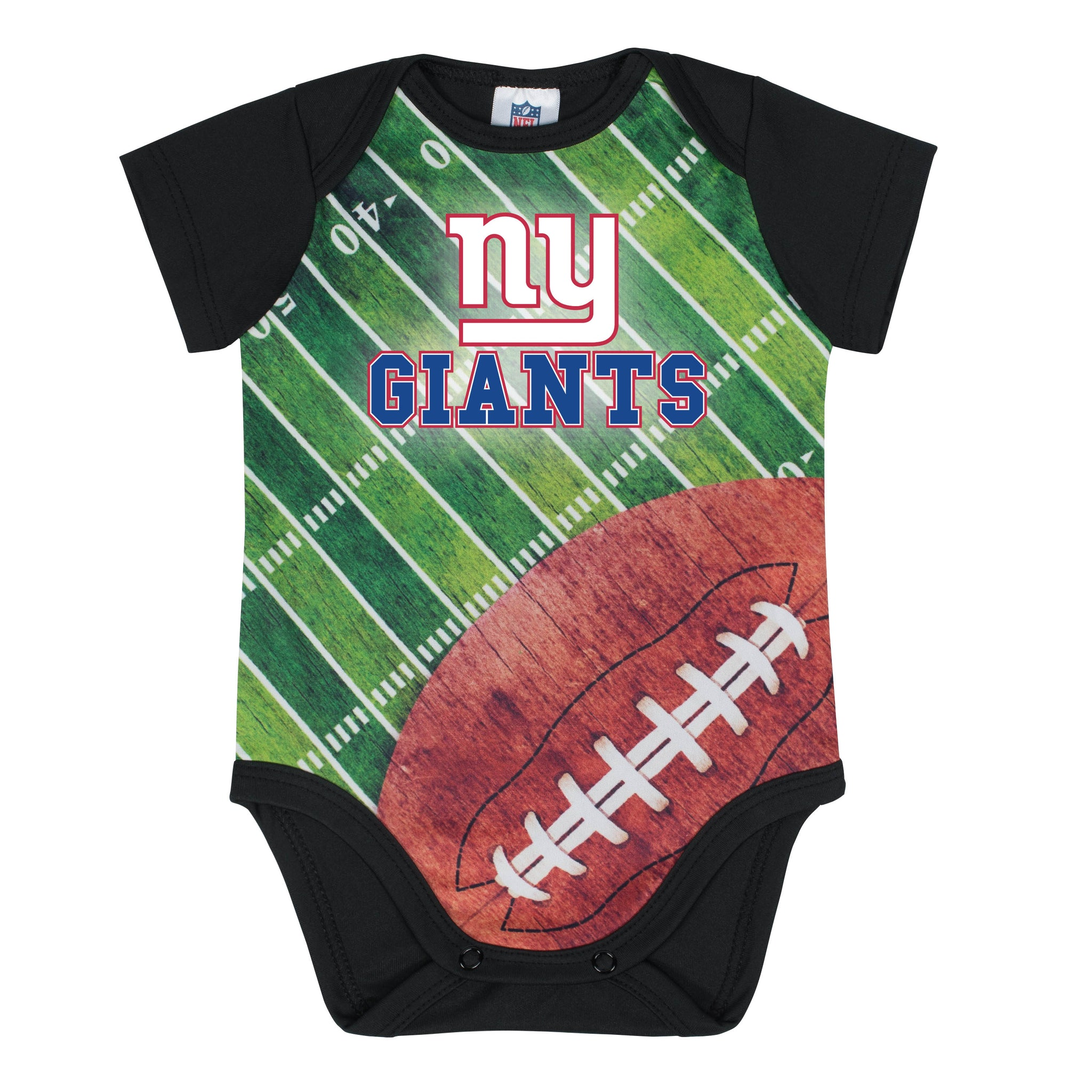 New York Giants Baby Boy Short Sleeve Bodysuit-Gerber Childrenswear