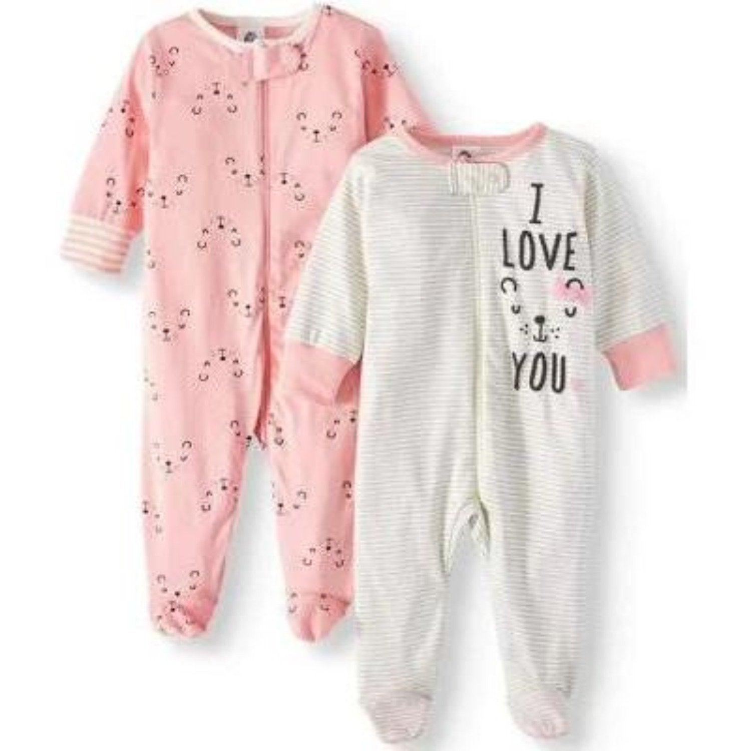 Baby Girls' 2-Pack Organic Bear Sleep 'n Plays