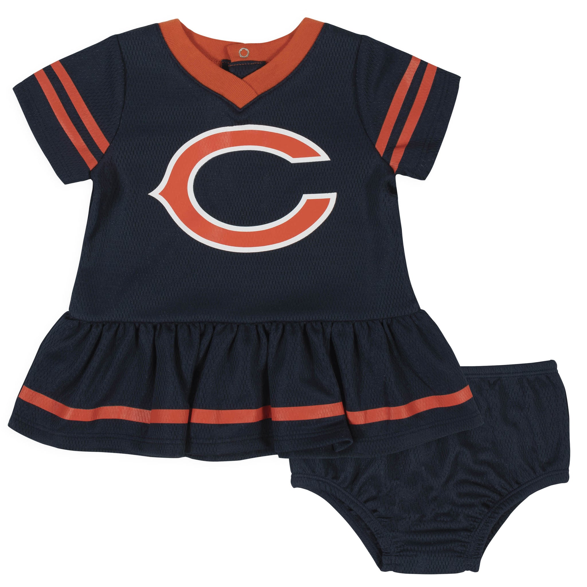 Chicago Bears Baby Girls Dress and Diaper Cover Set-Gerber Childrenswear