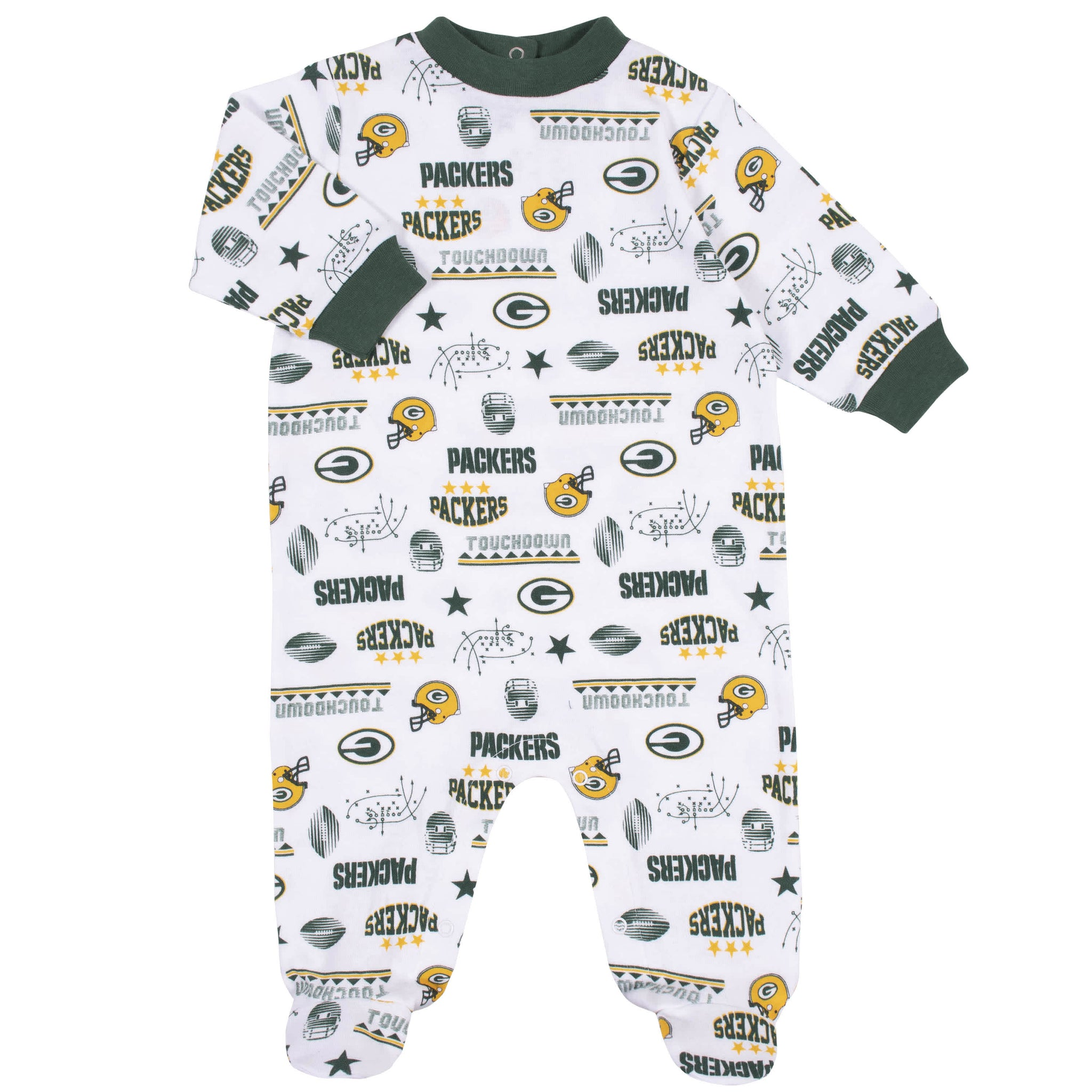 Green Bay Packers 3-Piece Baby Boys Bodysuit, Sleep 'N Play, and Cap Set