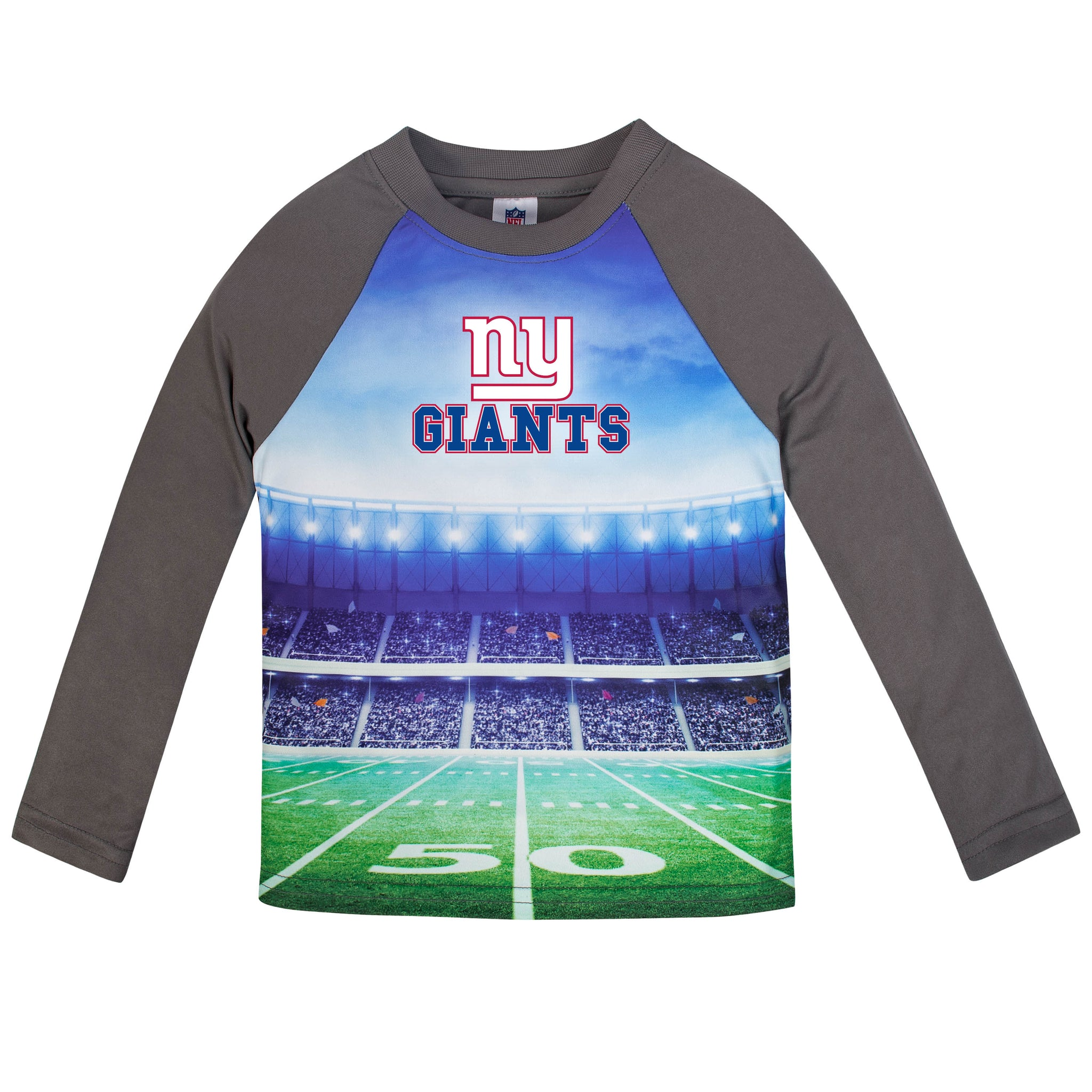 New York Giants Boys Long Sleeve Tee Shirt-Gerber Childrenswear