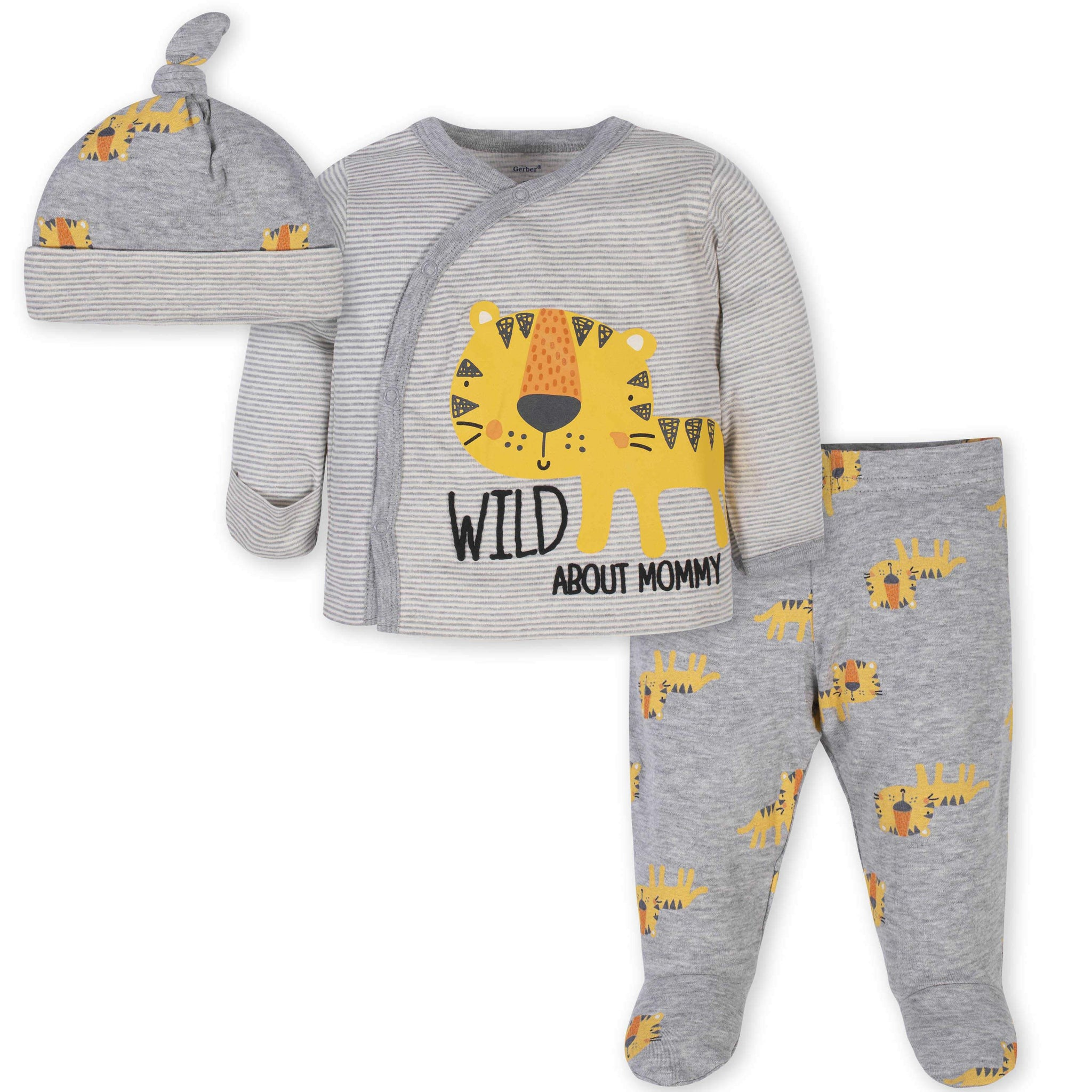 3-Piece Baby Boys Tiger Take-Me-Home Set
