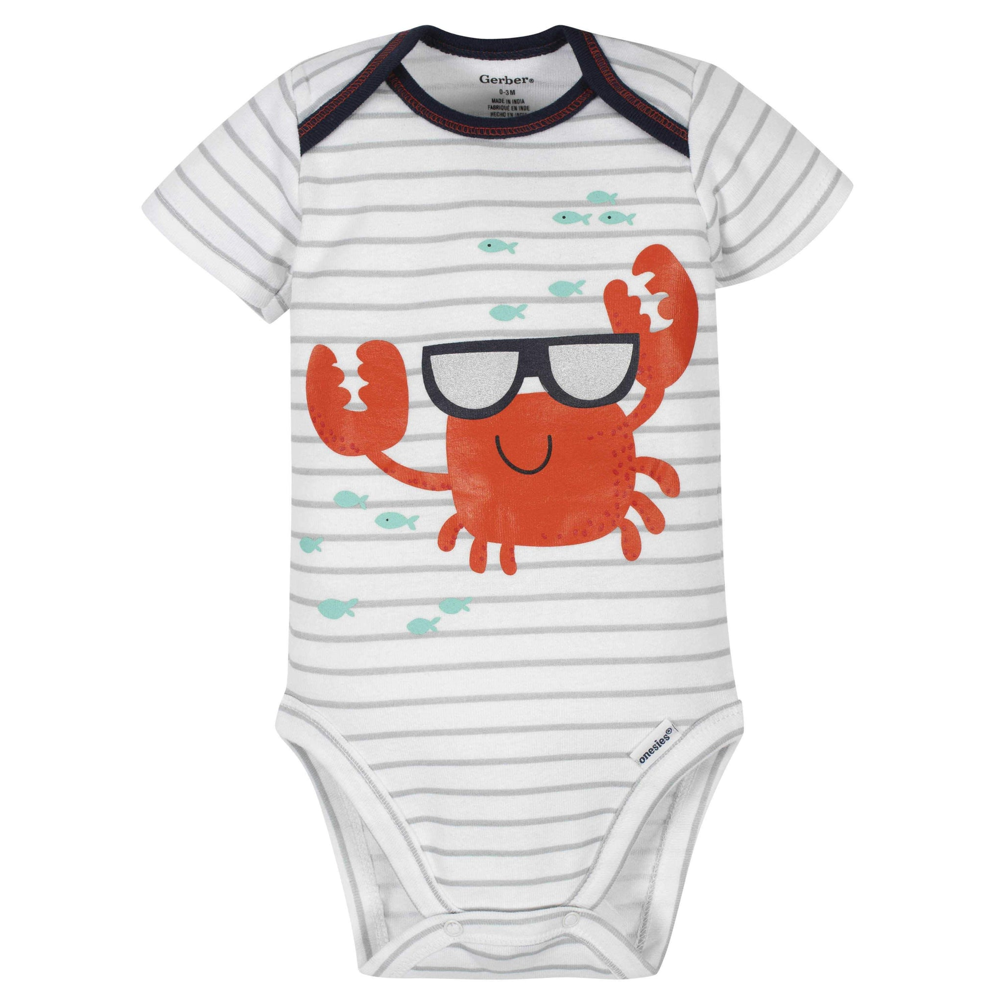 3-Piece Baby Boys Crab Bodysuit, Pants & Cap Set