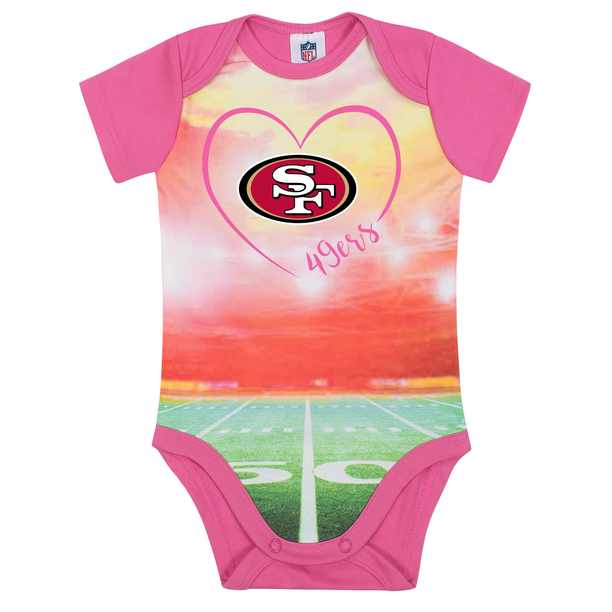 San Francisco 49ers Baby Girl Short Sleeve Bodysuit