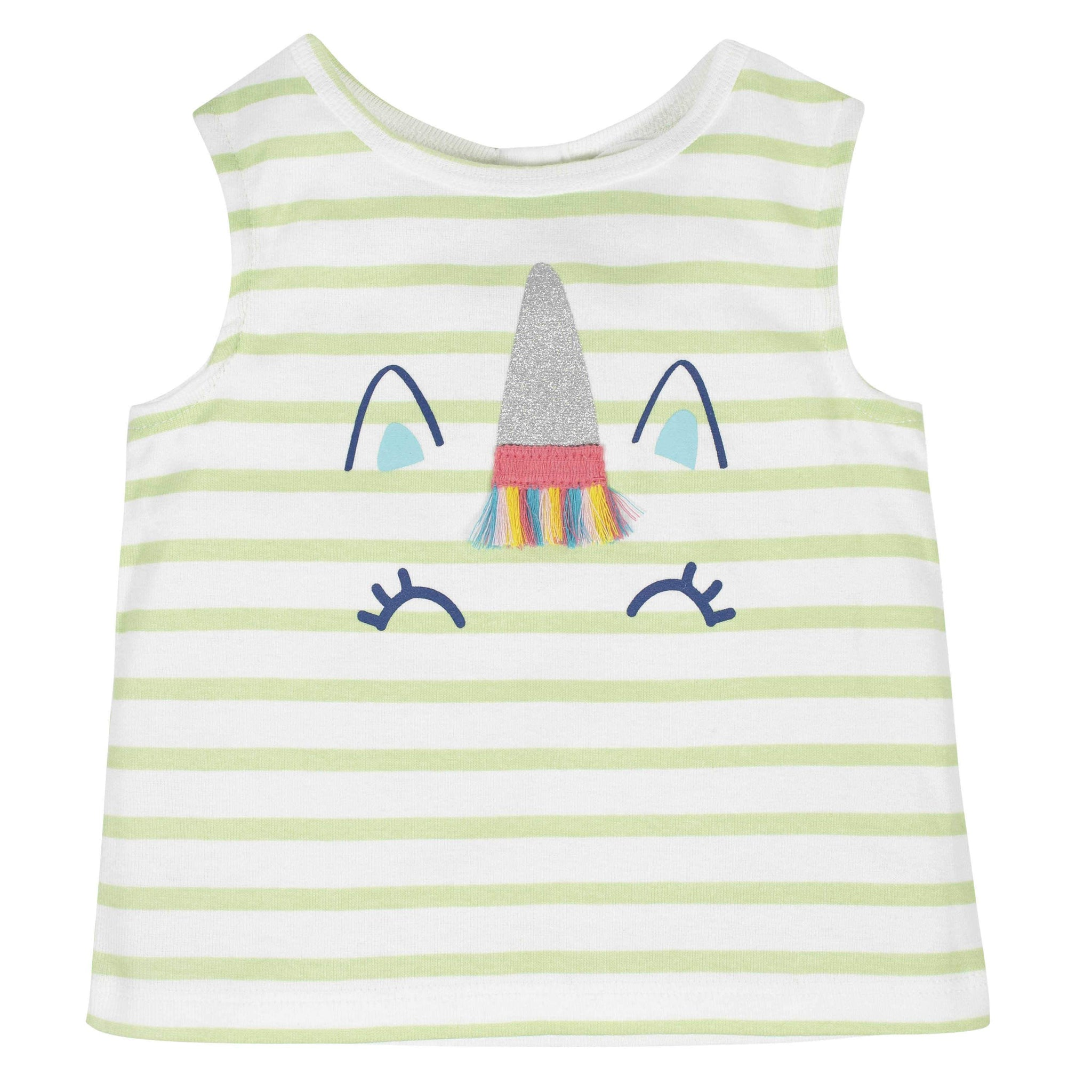 2-Piece Toddler Girls Unicorn Tank and Tutu Short Set