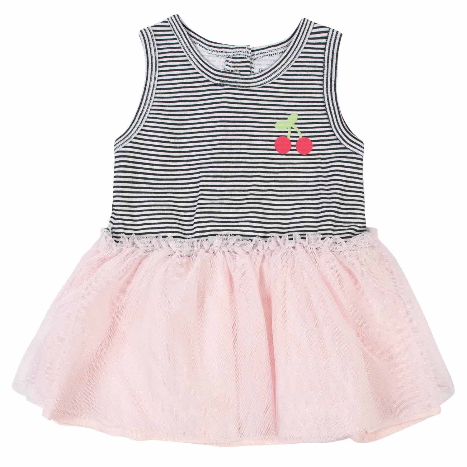 2-Piece Baby Girls Cherries Tulle Dress and Diaper Cover