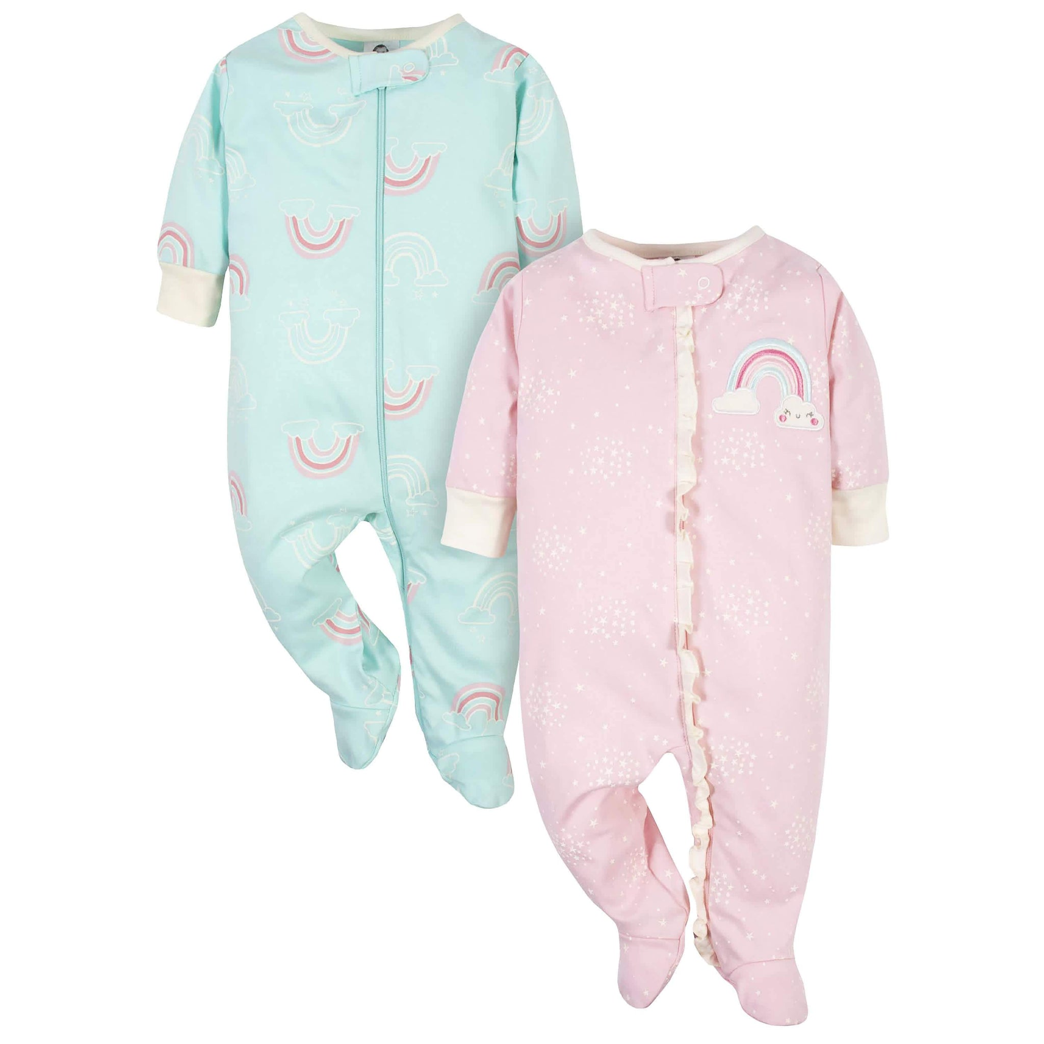 Gerber® Organic 2-Pack Baby Girls Rainbow Sleep 'N Plays