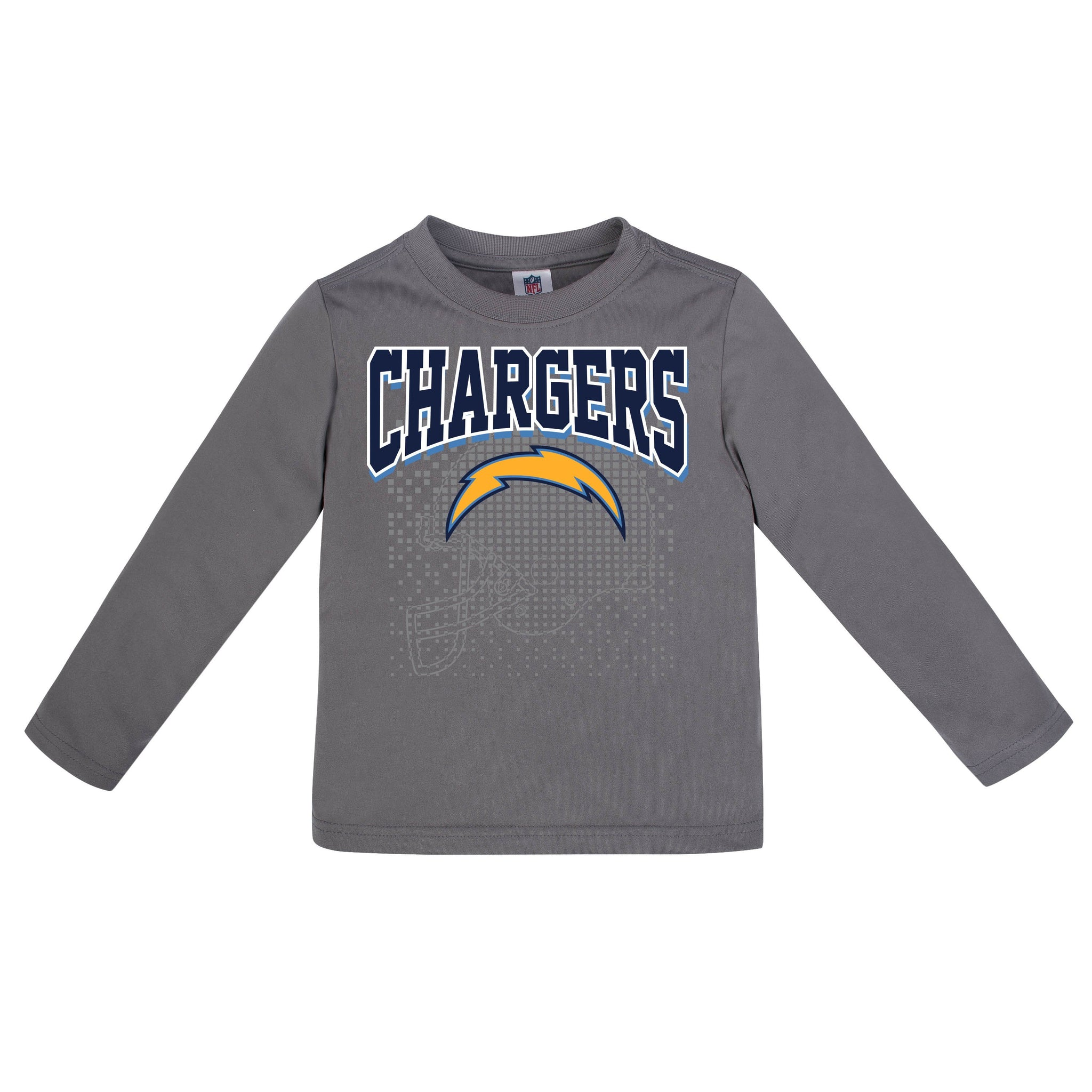 LA Chargers Boys Long Sleeve Tee Shirt-Gerber Childrenswear