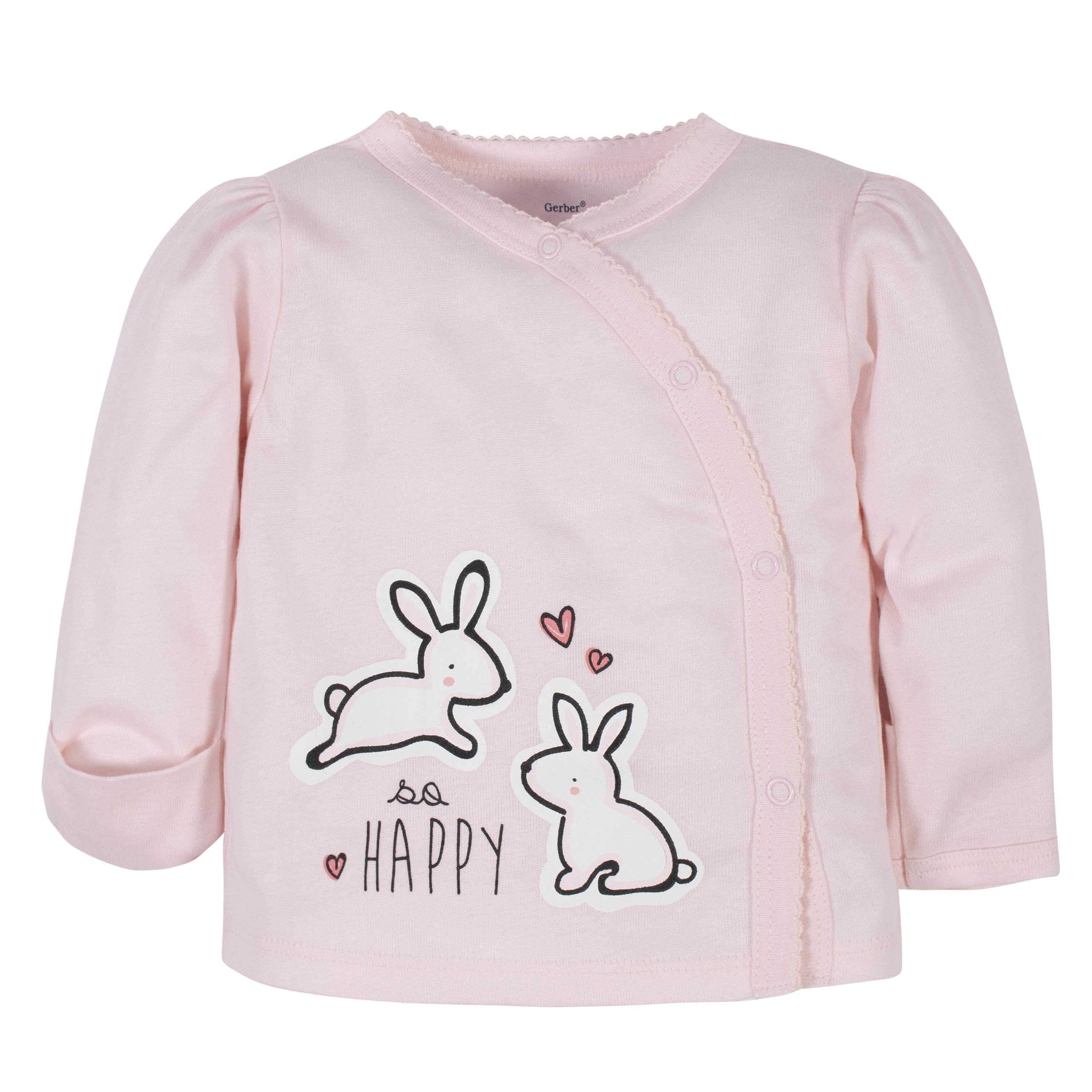 Gerber® 3-Piece Baby Girls Bunny Take-Me-Home Set