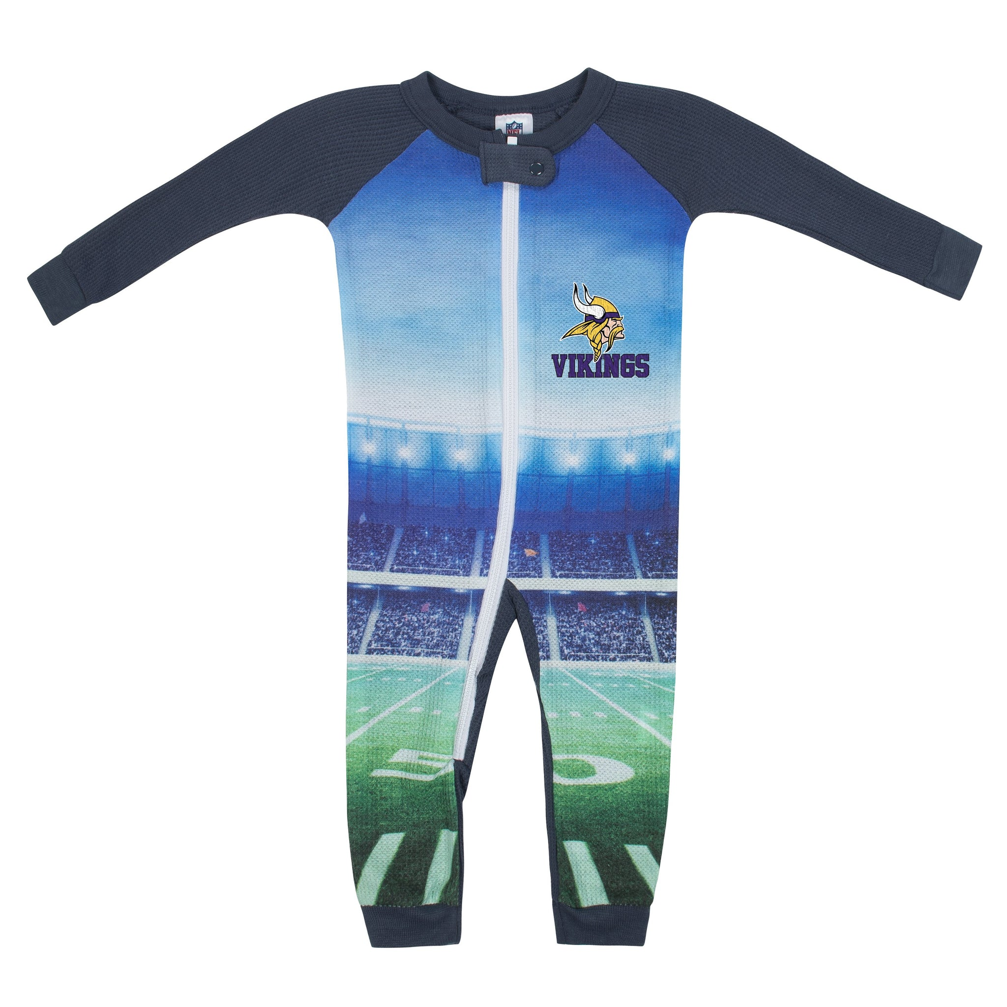Minnesota Vikings Boys Union Suit-Gerber Childrenswear