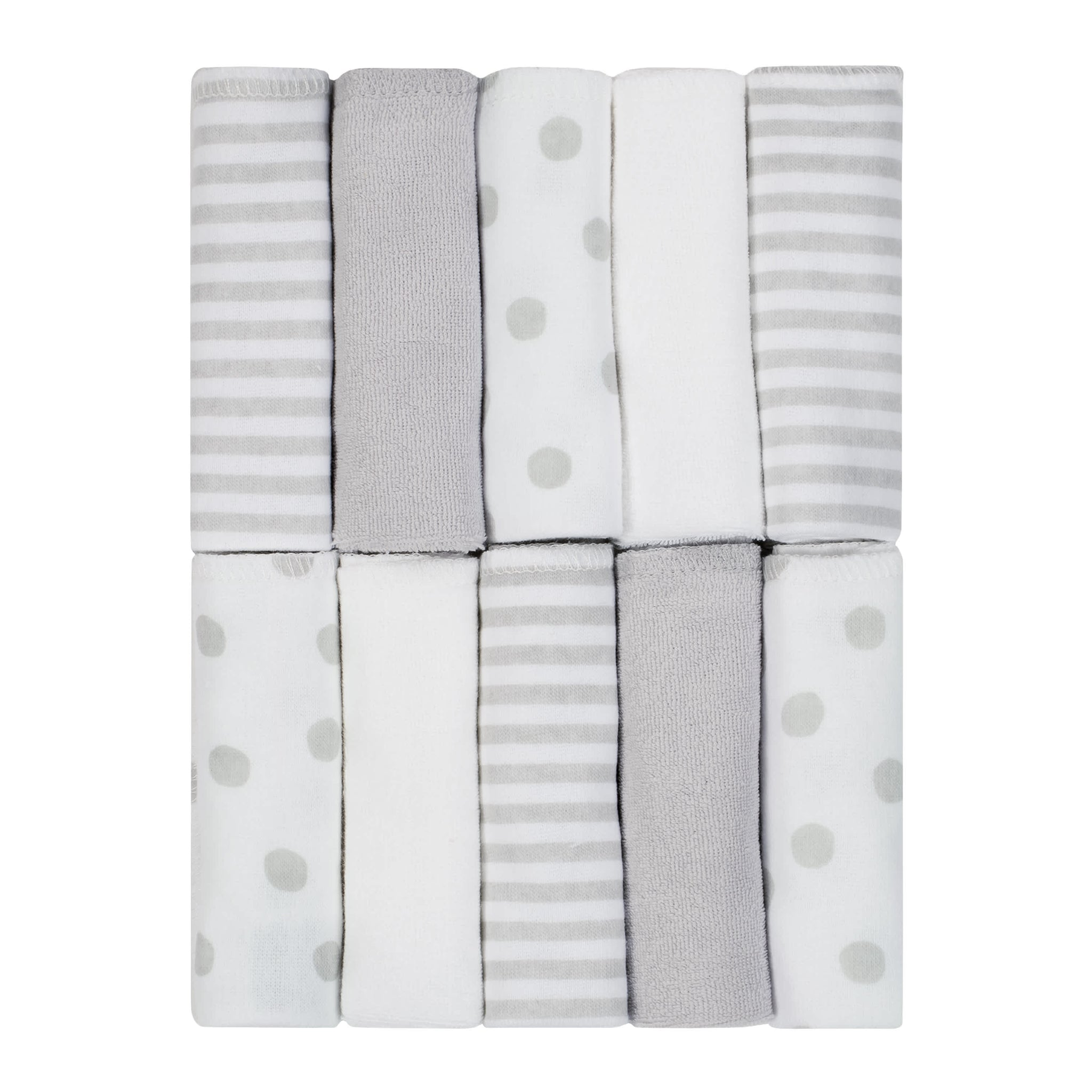 10-Pack Baby Neutral Washcloths