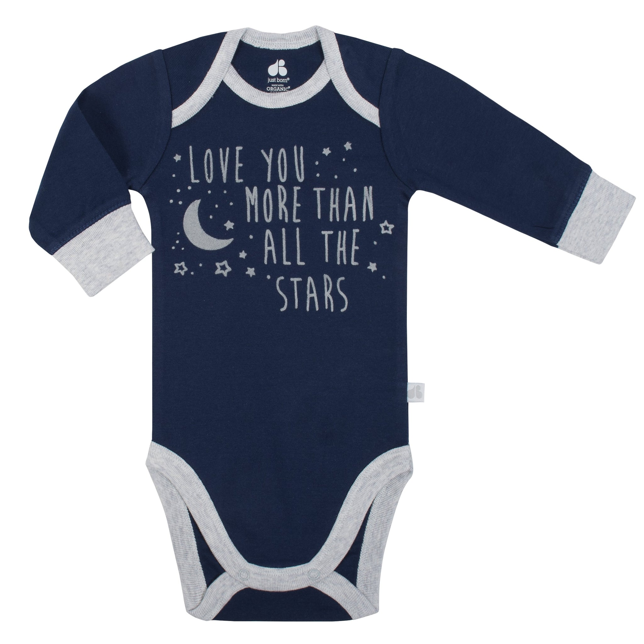 Baby Boy Just Born® Organic 2-piece Outer Space Bodysuit and Pants Set