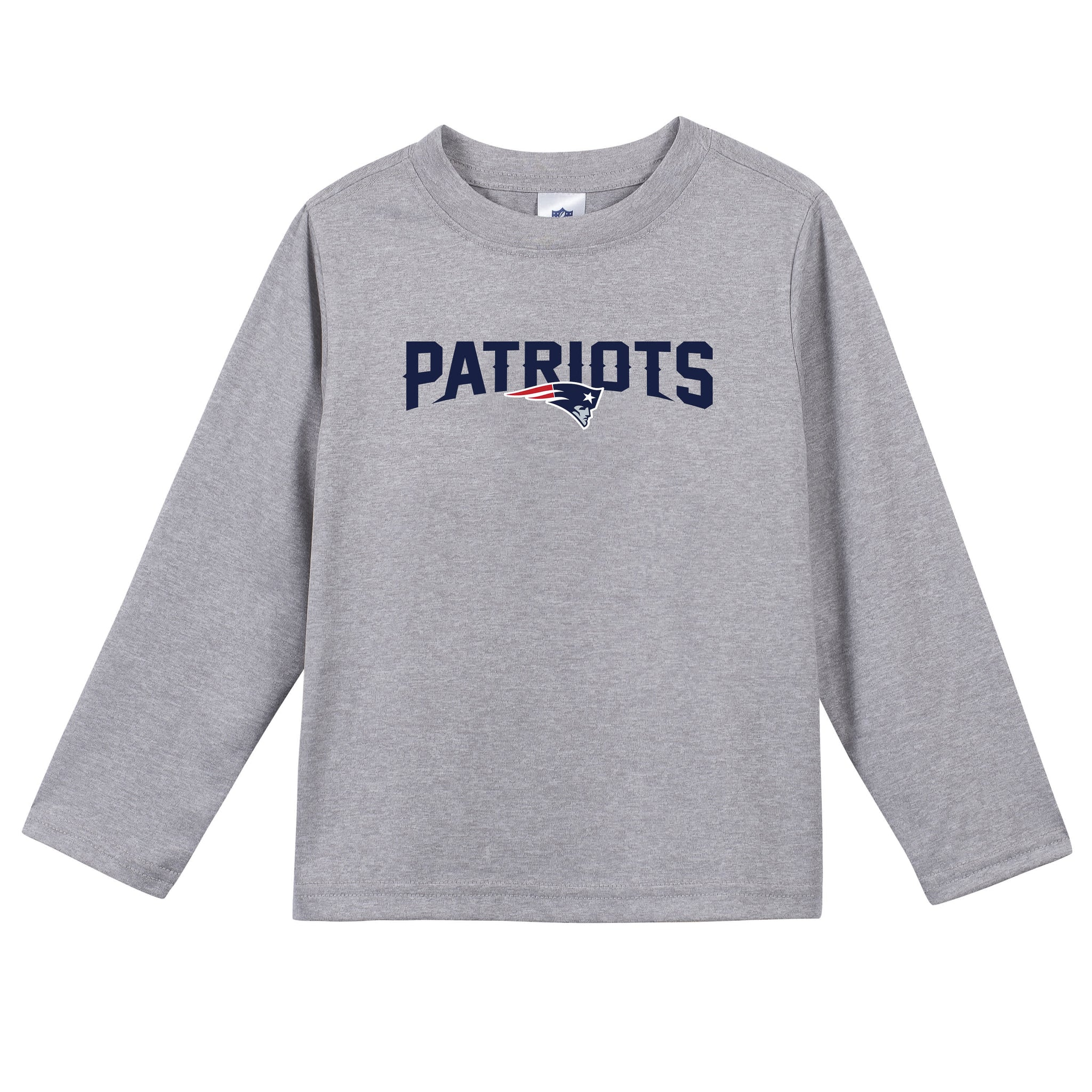 New England Patriots Toddler Boys Long Sleeve Tee Shirt-Gerber Childrenswear