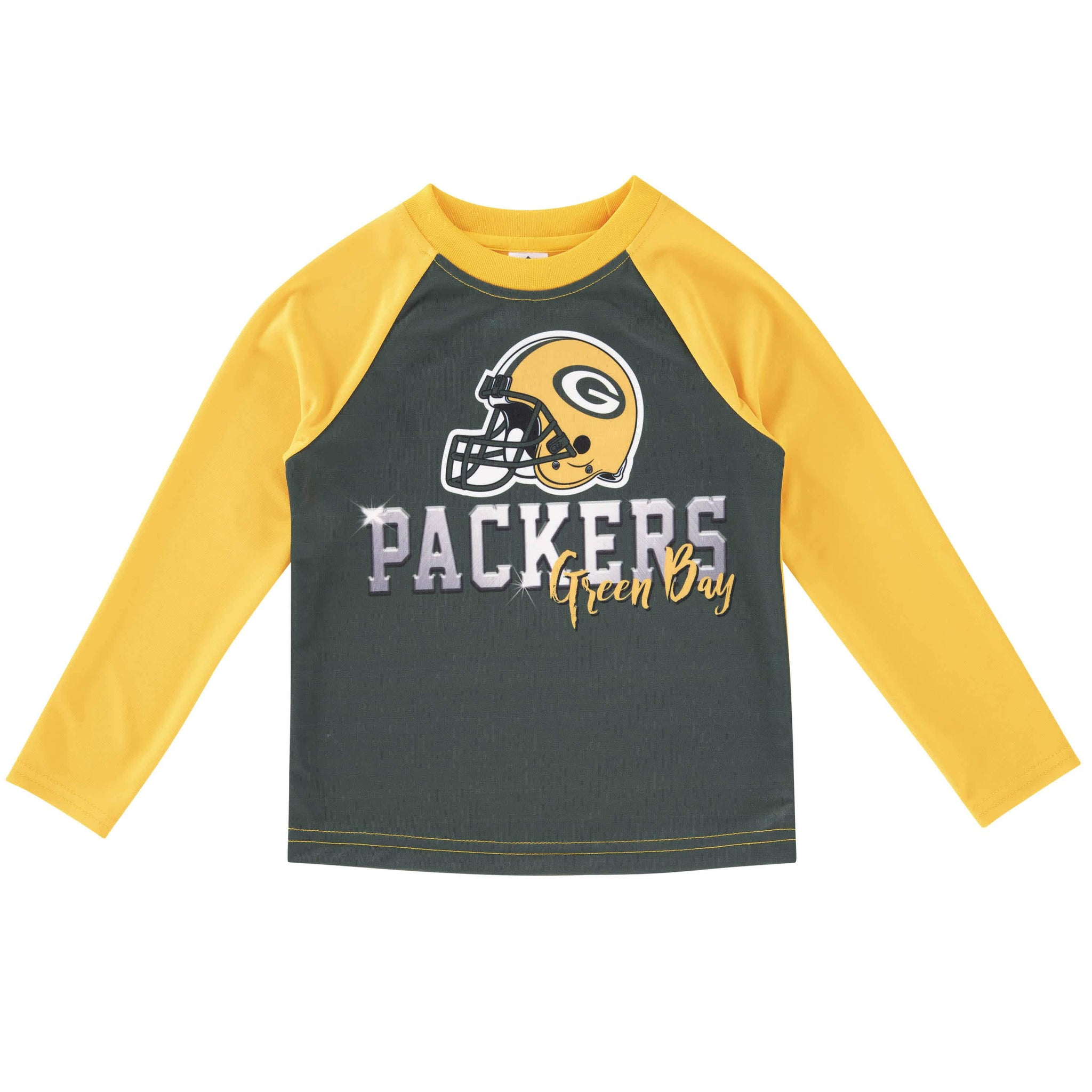 Green Bay Packers Long Sleeve Tee Shirt-Gerber Childrenswear