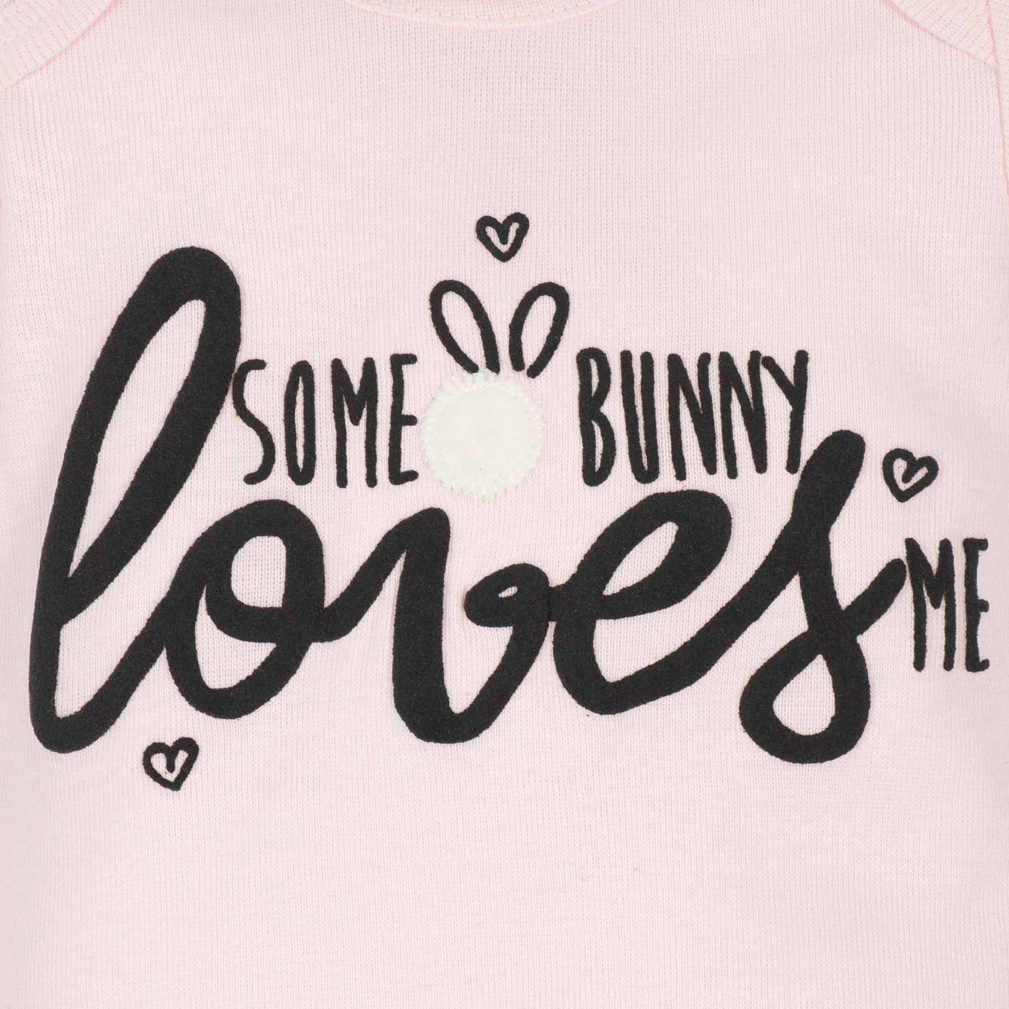 3-Piece Baby Girls Bunny Onesies Bodysuits and Pant Set