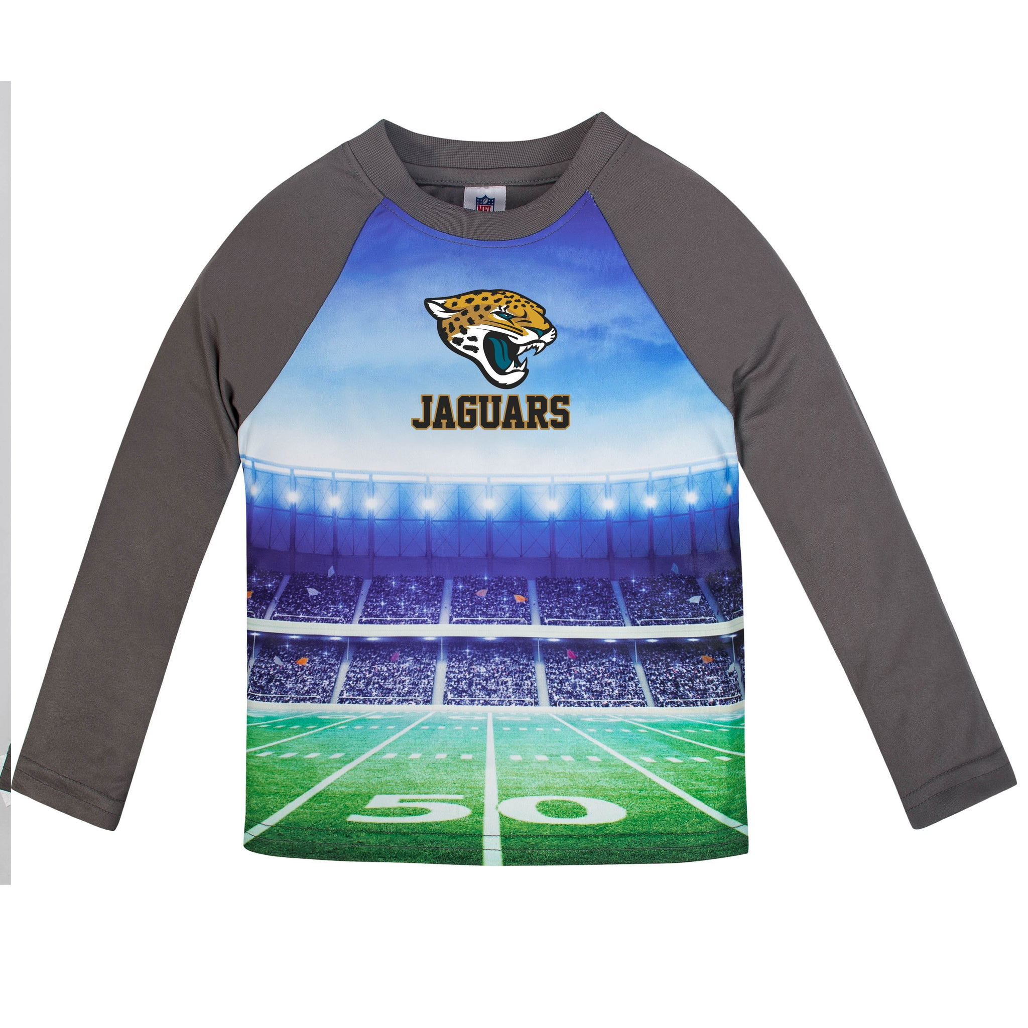 Jacksonville Jaguars Boys Long Sleeve Tee Shirt
