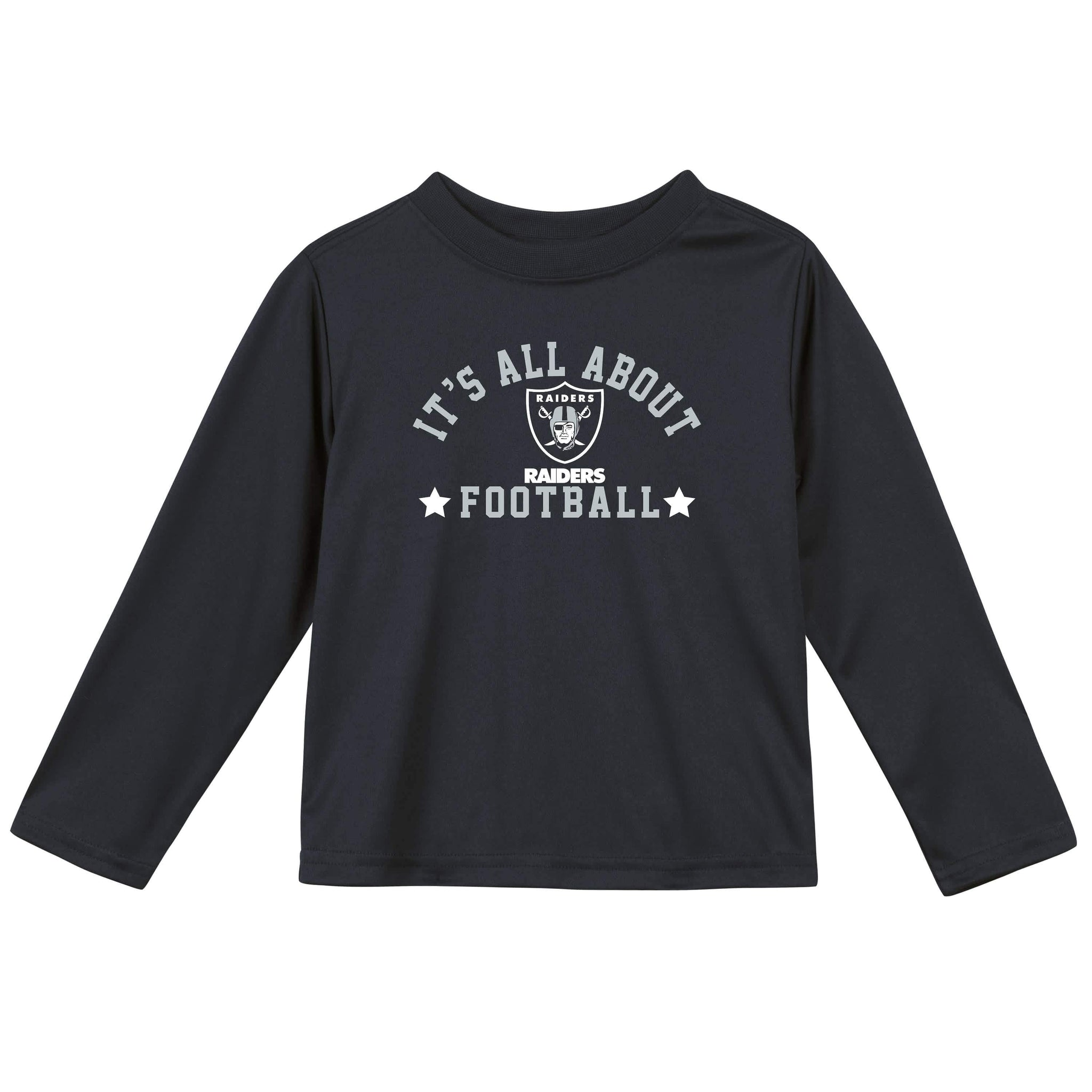 Las Vegas Raiders Baby and Toddler Boys Long Sleeve Tee Shirt