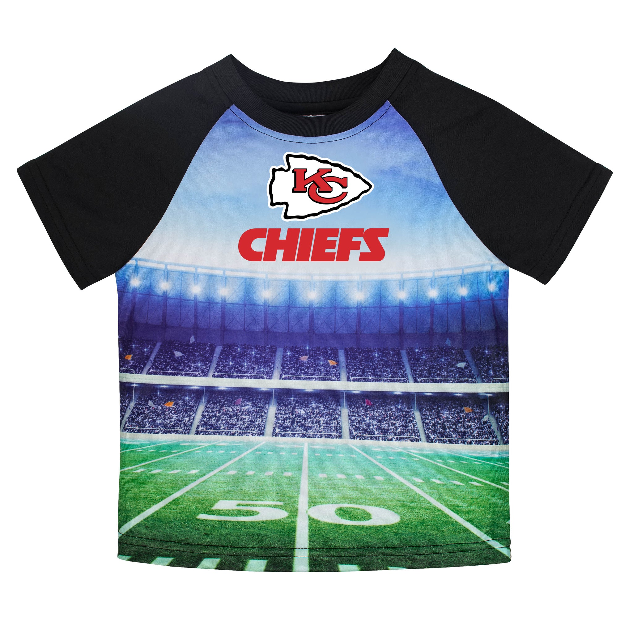 Kansas City Chiefs Boys Short Sleeve Tee Shirt-Gerber Childrenswear