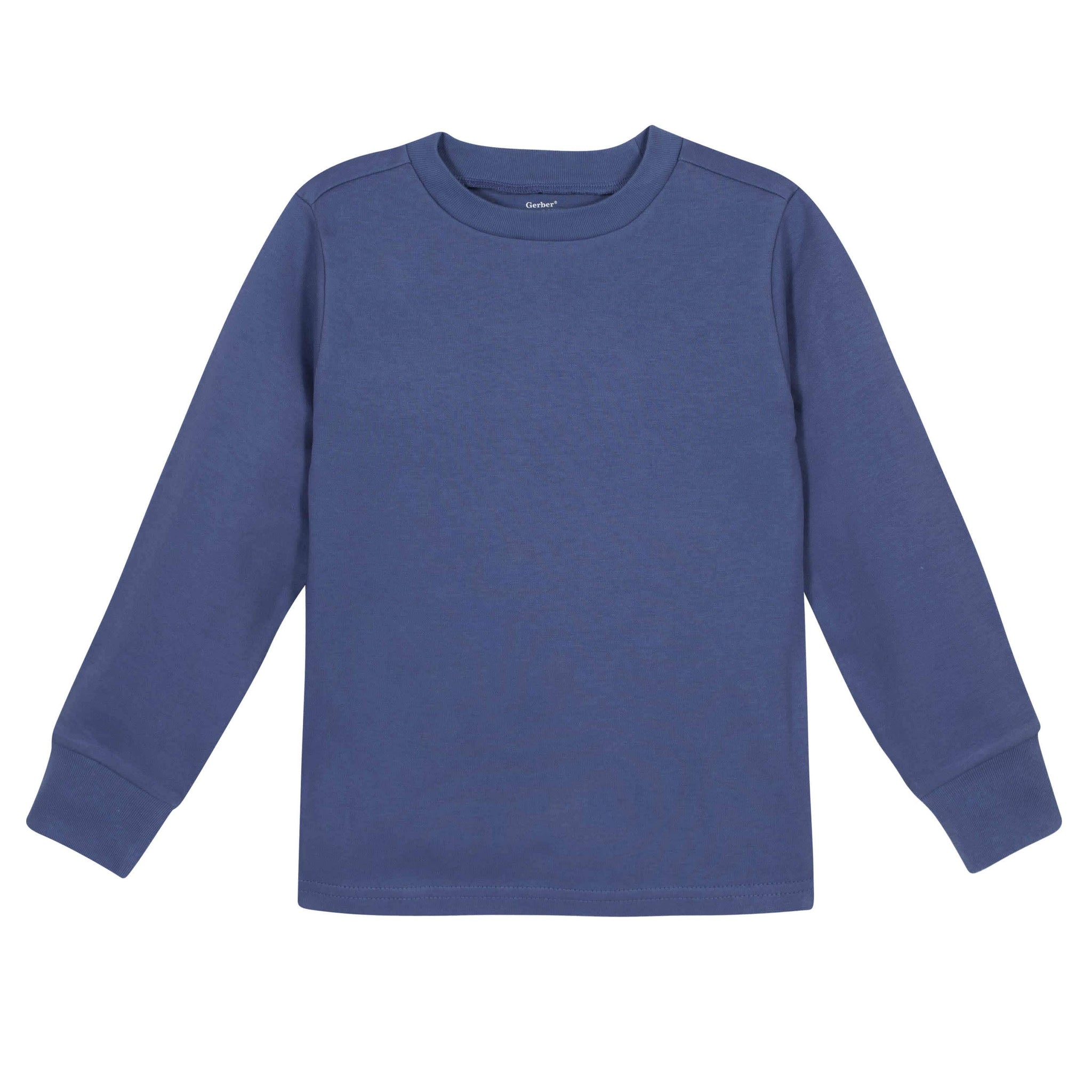 Gerber® Premium Blue Long Sleeve Tee Shirt - 10 Colors Available