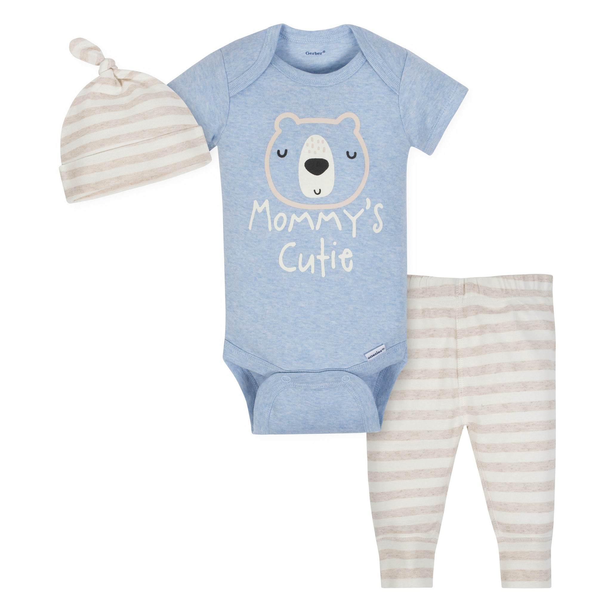 Gerber 3-Piece Organic Baby Boy Bear Take Me Home Set