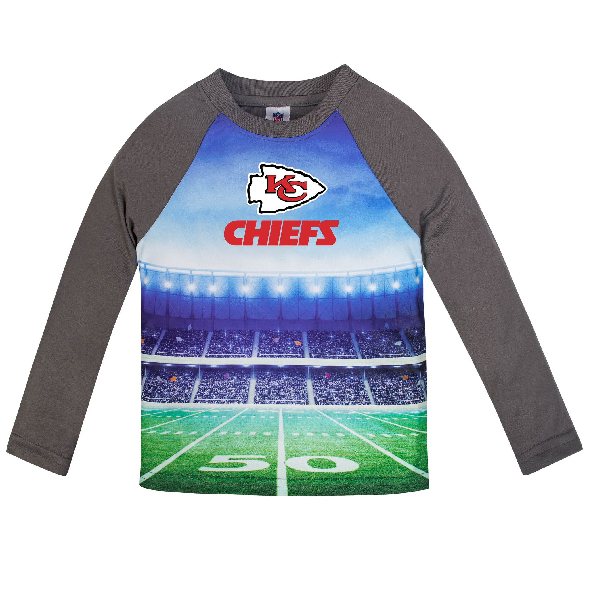 Kansas City Chiefs Boys Long Sleeve Tee Shirt-Gerber Childrenswear