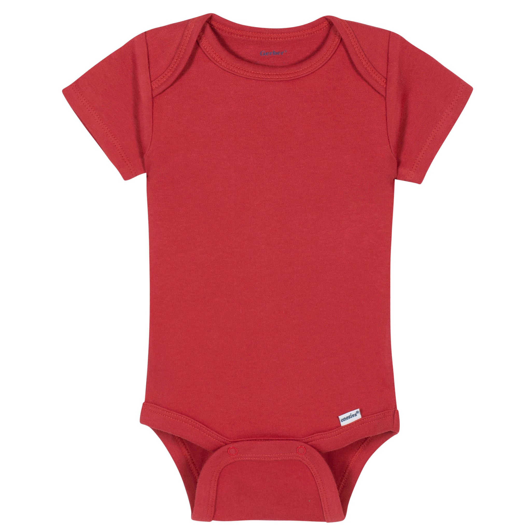 Gerber® Premium Red Short Sleeve Onesies® Brand Bodysuit - 10 Colors Available
