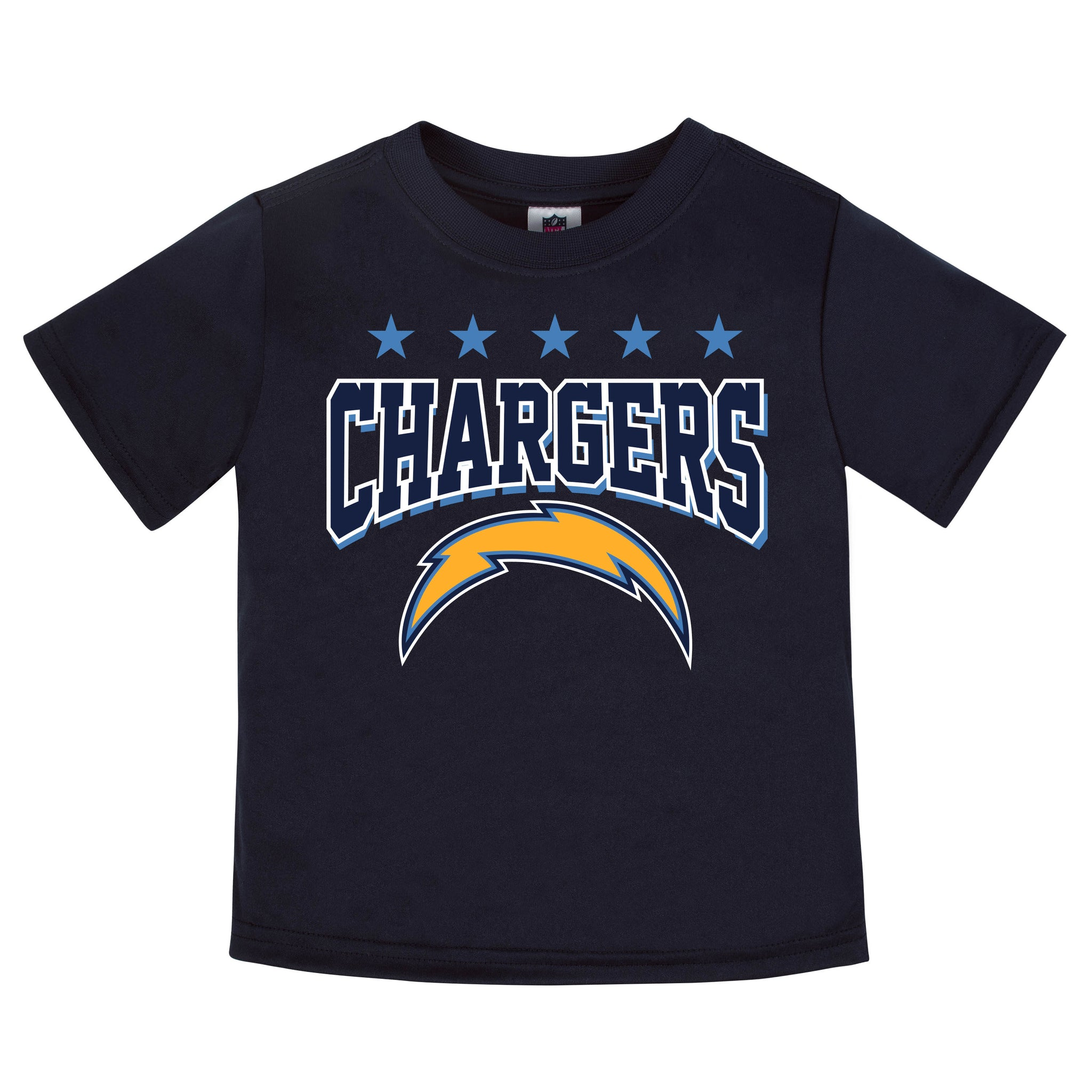 LA Chargers Boys Short Sleeve Tee Shirt-Gerber Childrenswear