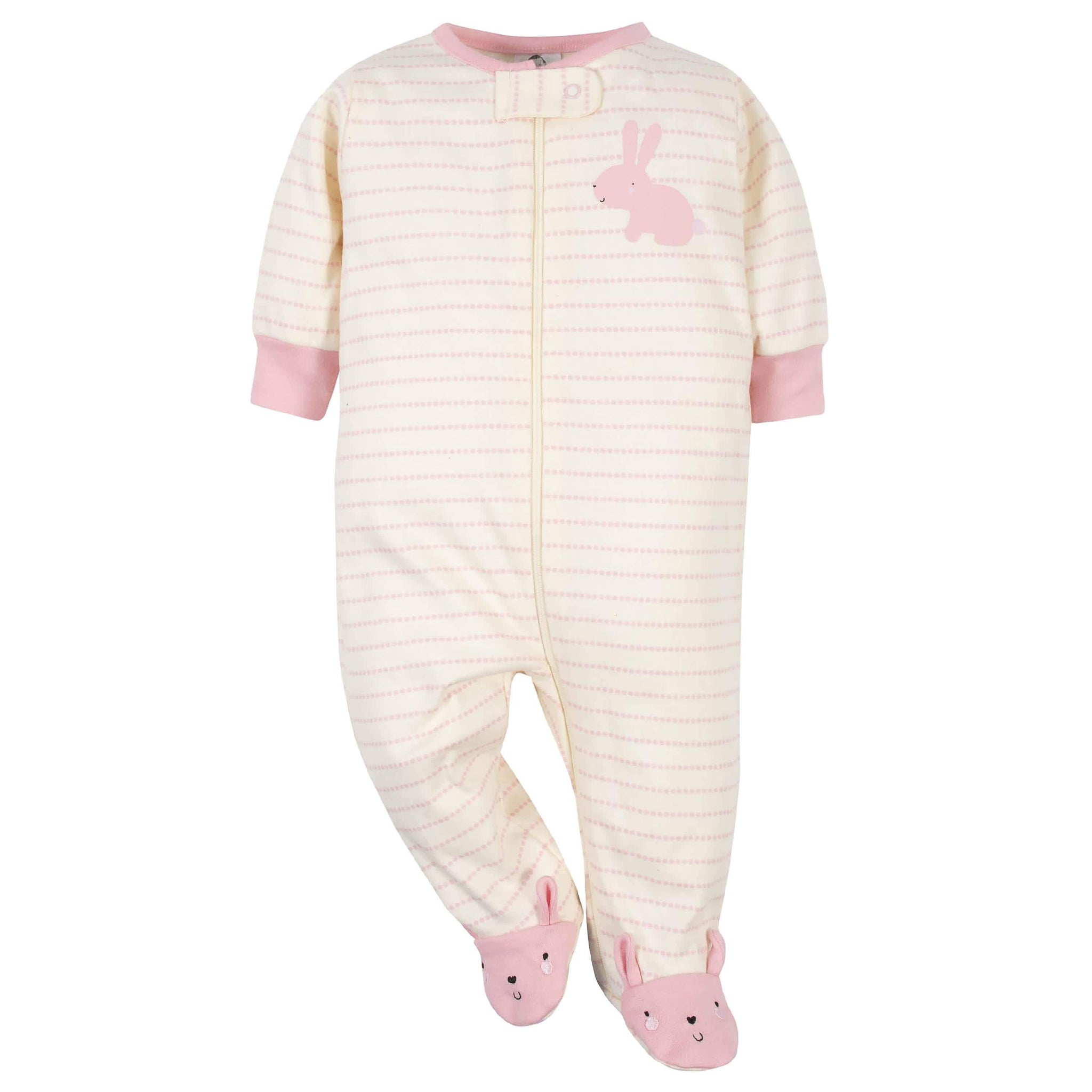 Gerber® Organic 2-Pack Baby Girls Bunny Sleep 'N Plays