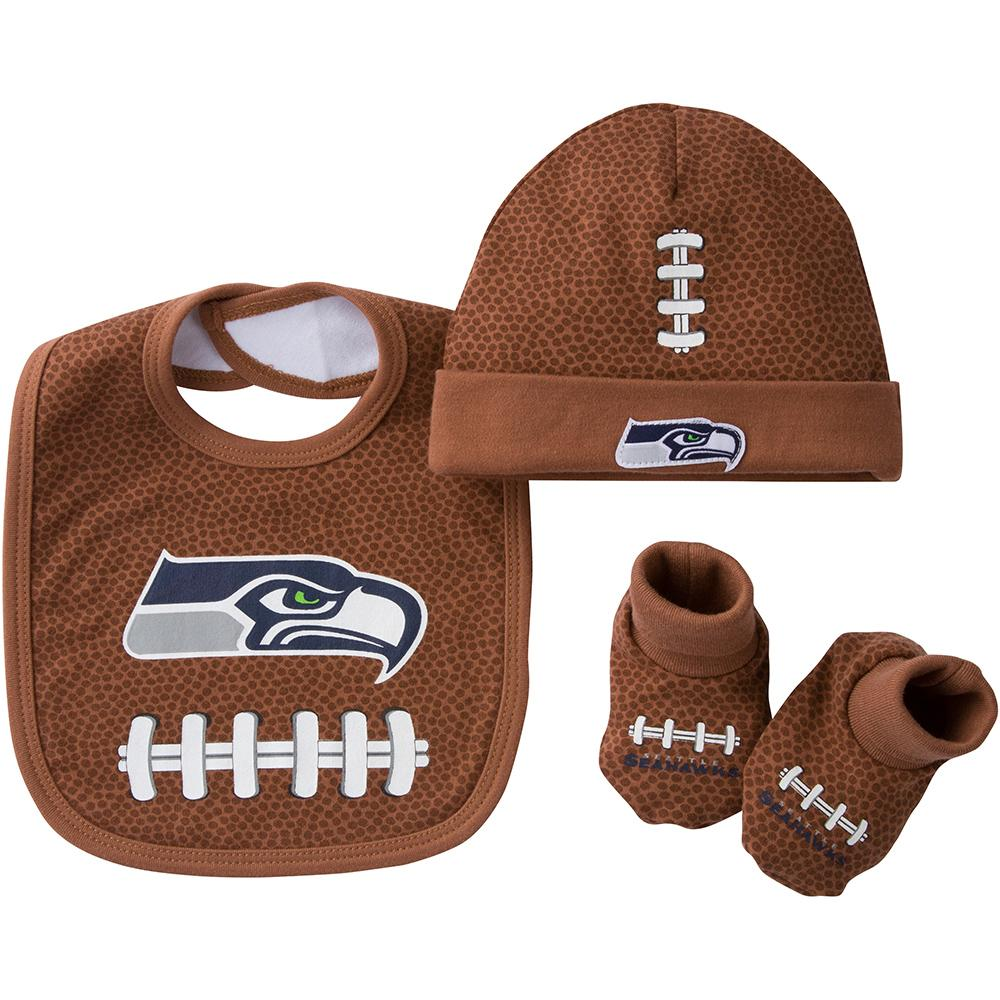 Seahawks 3pc Cap, Booties, and Bib Set-Gerber Childrenswear