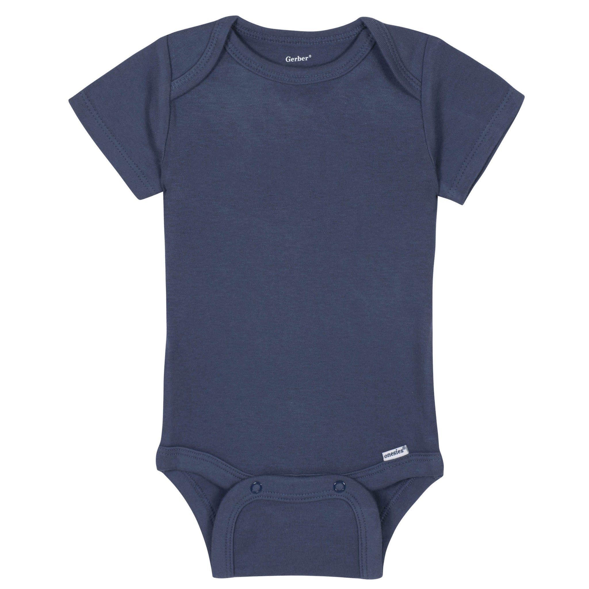 Gerber® Premium Navy Short Sleeve Onesies® Brand Bodysuit - 10 Colors Available