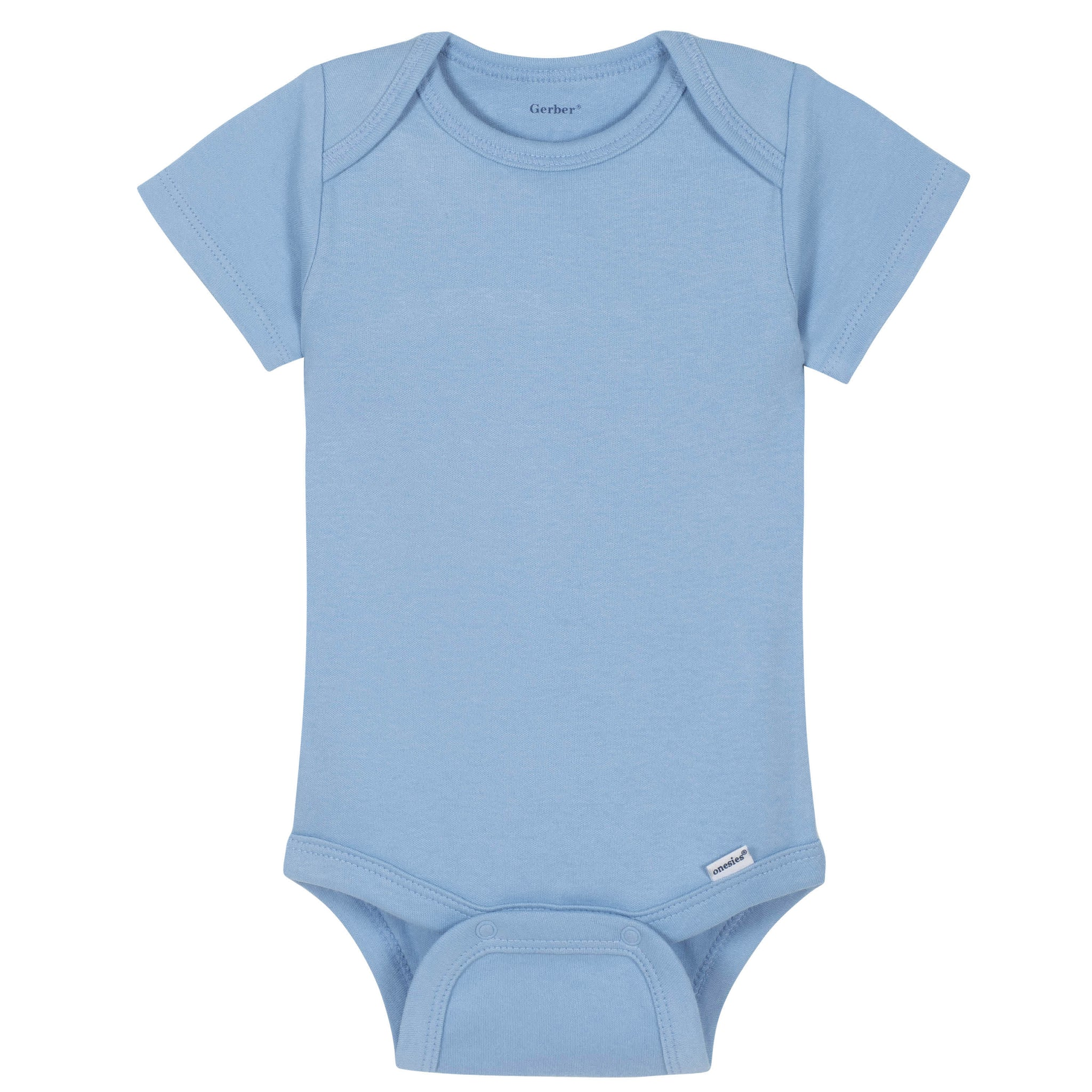Gerber® Premium Light Blue Short Sleeve Onesies® Brand Bodysuit - 10 Colors Available