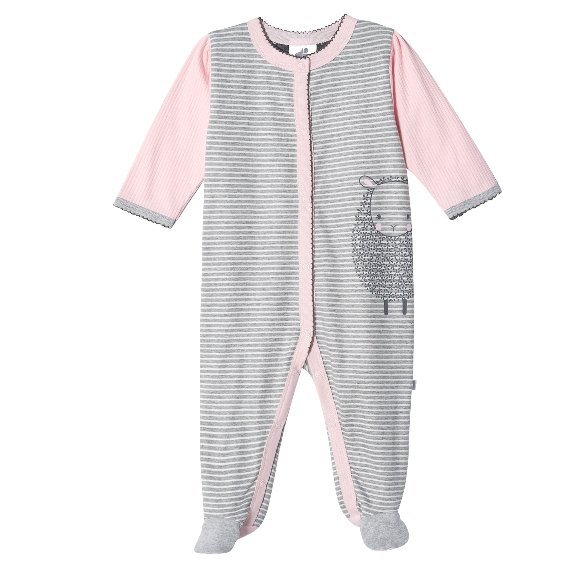 Just Born® Organic Baby Girls Lil' Lamb Sleep 'n Play